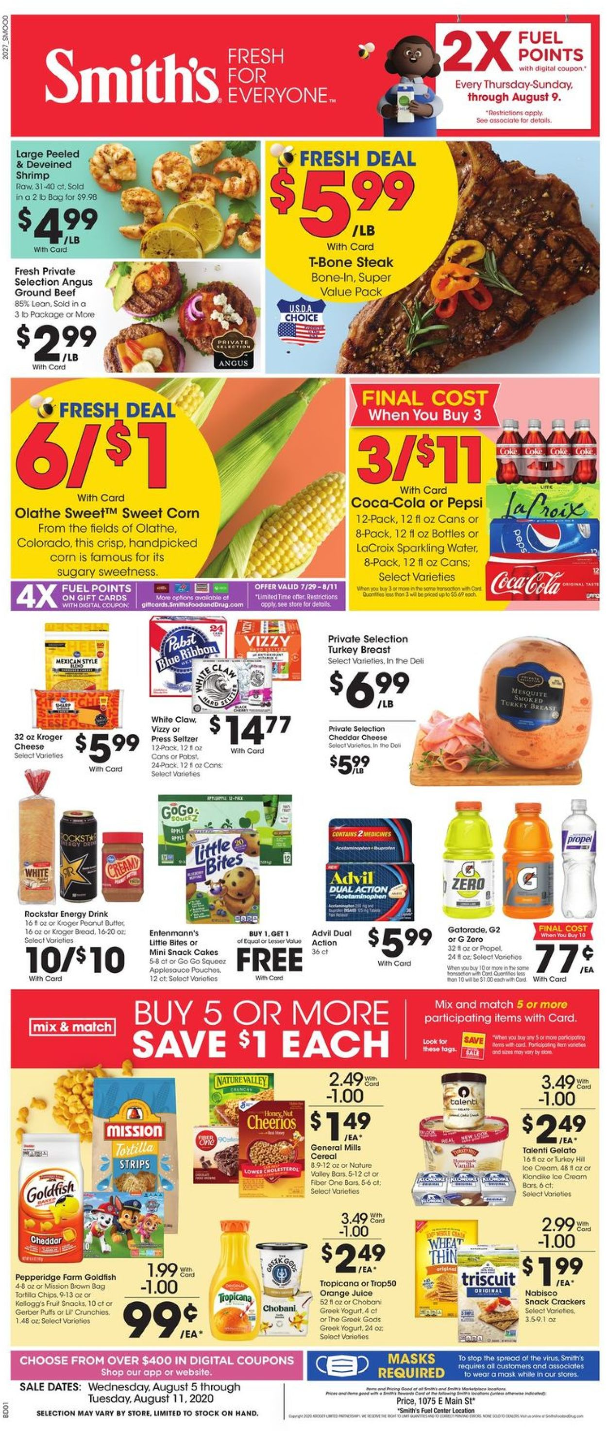 Smith's Weekly Ad Circular - valid 08/05-08/11/2020