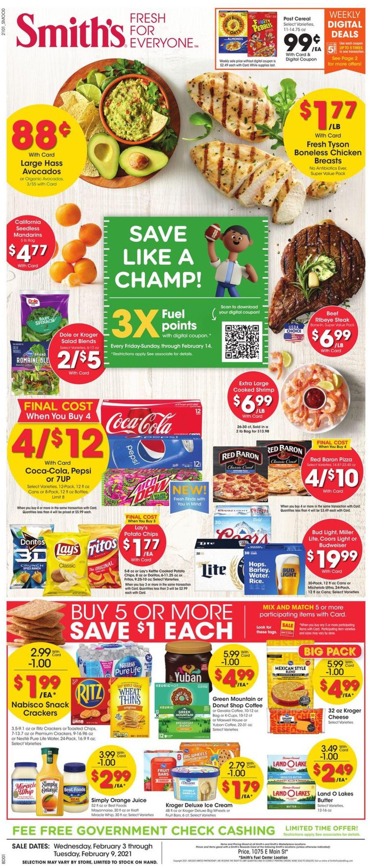 Smith's Weekly Ad Circular - valid 02/03-02/09/2021