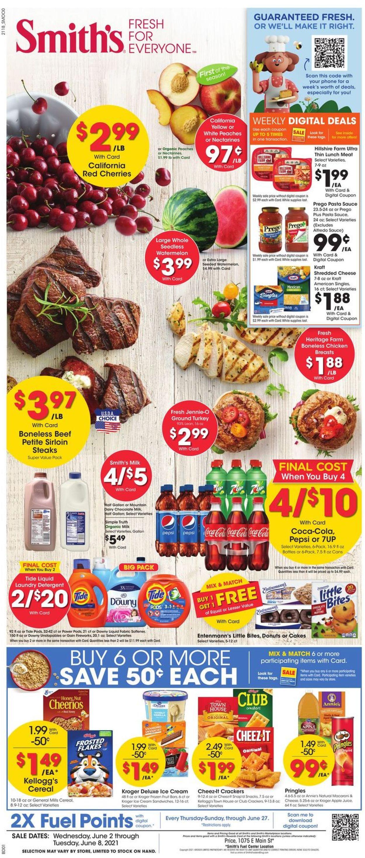 Smith's Weekly Ad Circular - valid 06/02-06/08/2021