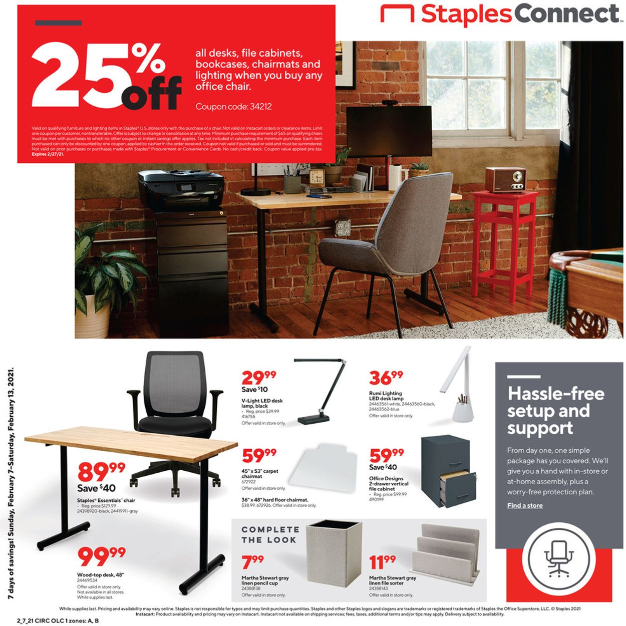 Staples Weekly Ad Circular - valid 02/07-02/13/2021