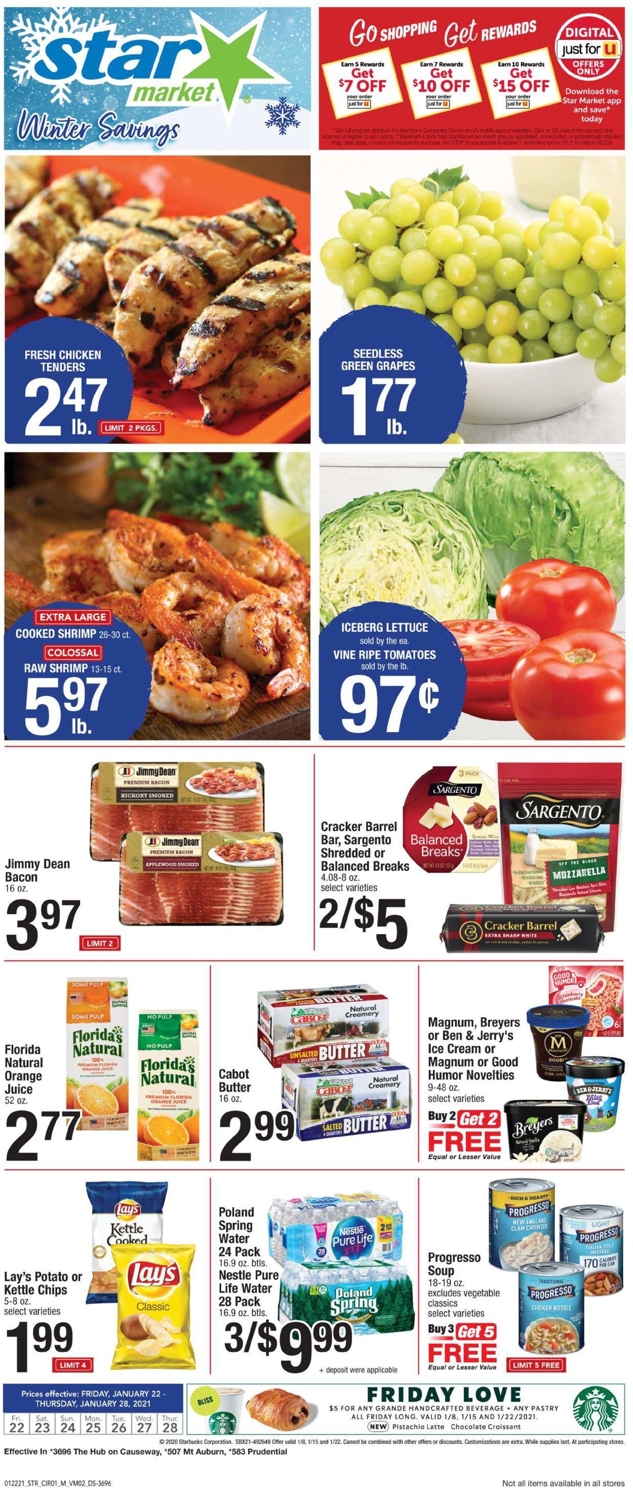 Star Market Weekly Ad Circular - valid 01/22-01/28/2021