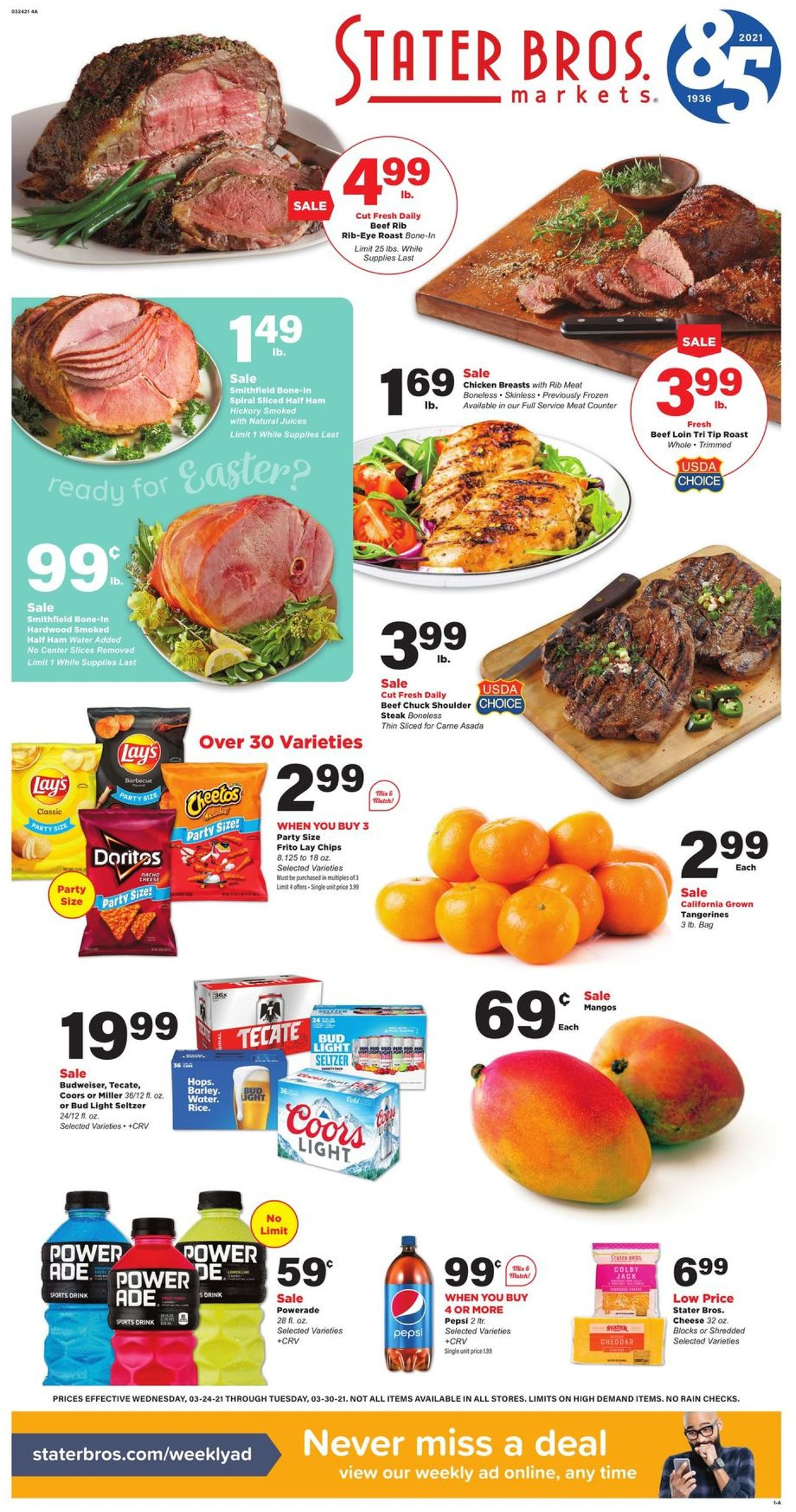 Stater Bros. - Easter 2021 Ad Weekly Ad Circular - valid 03/24-03/30/2021