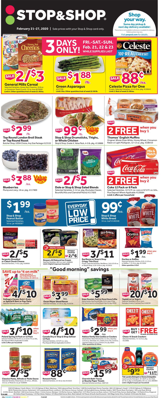 Stop and Shop Weekly Ad Circular - valid 02/21-02/27/2020