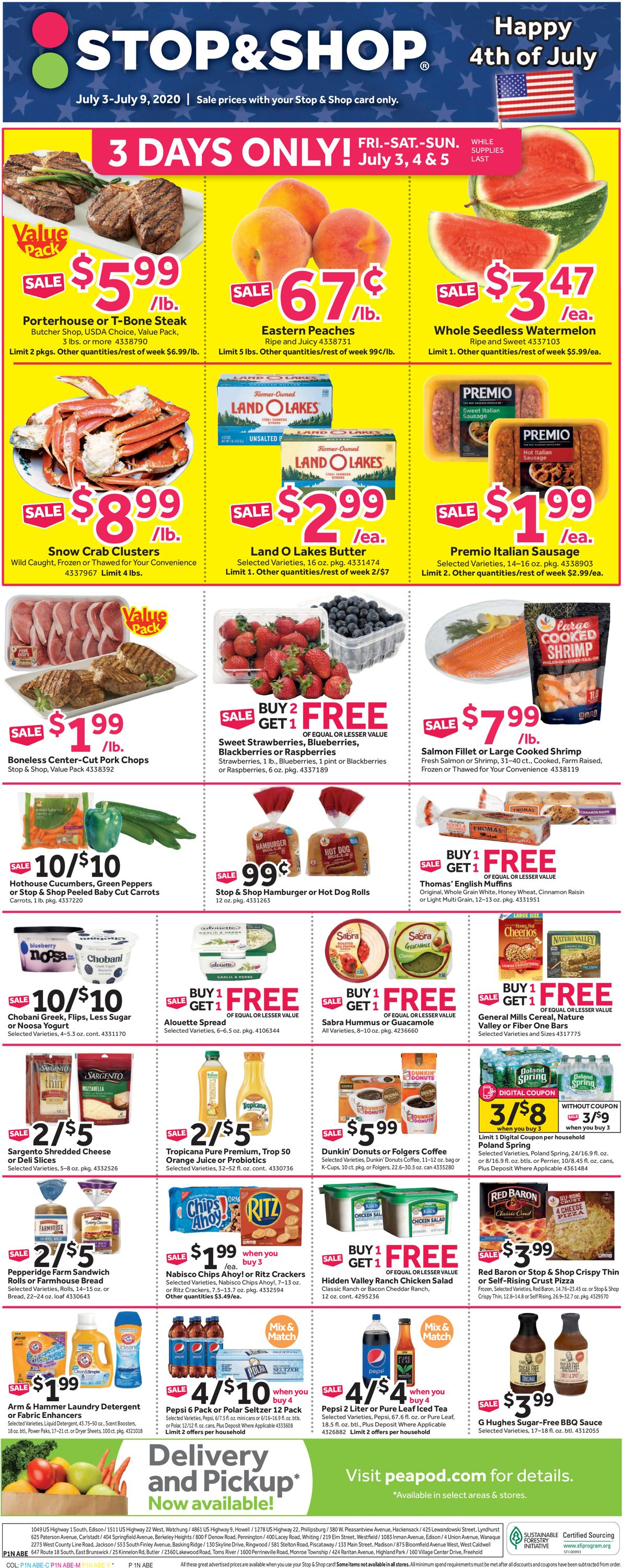 Stop and Shop Weekly Ad Circular - valid 07/03-07/09/2020