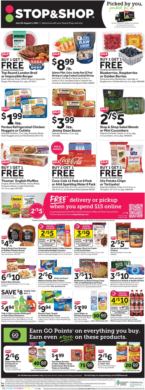 Stop and Shop Weekly Ad Circular - valid 07/30-08/05/2021