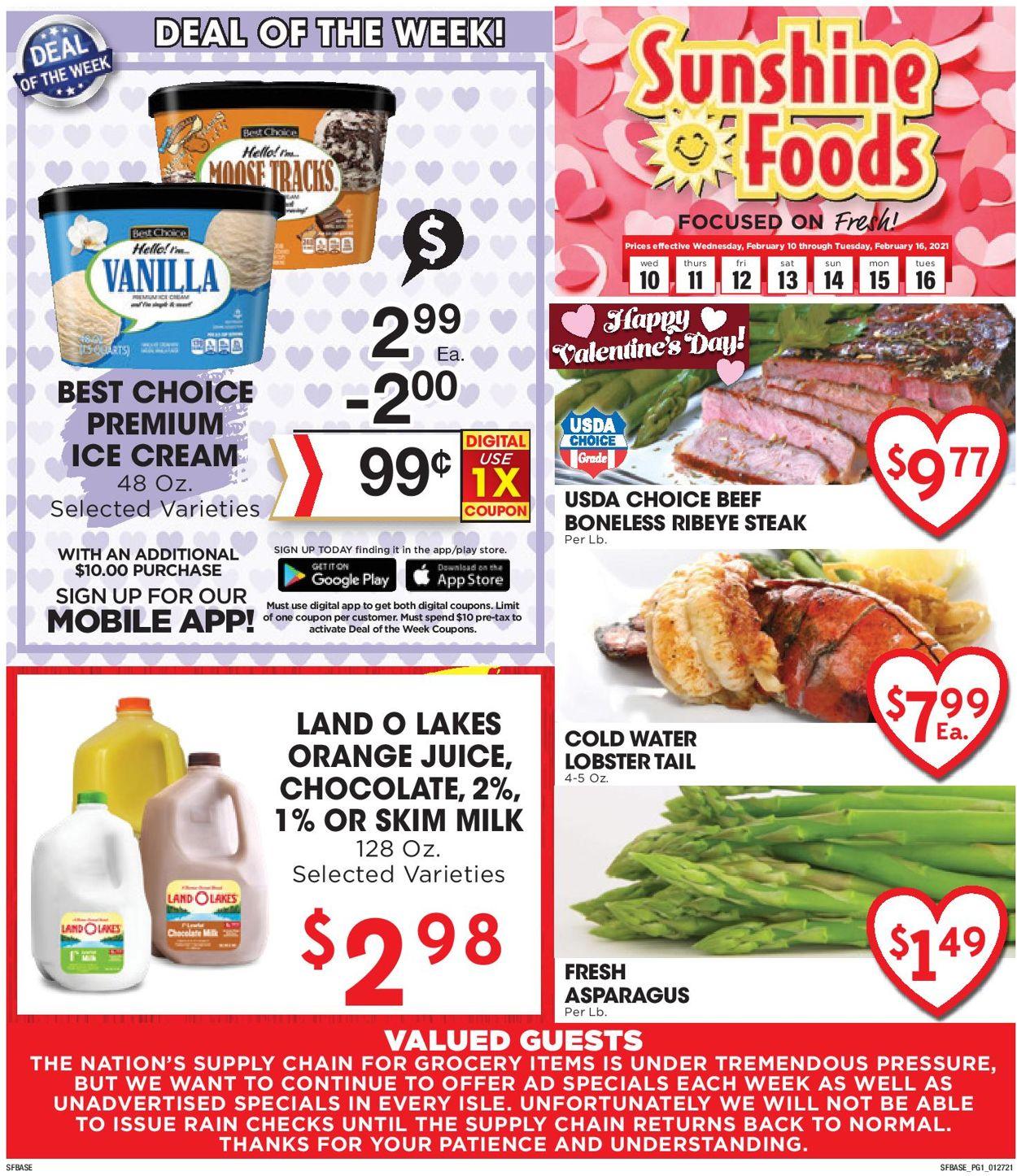 Sunshine Foods Weekly Ad Circular - valid 02/10-02/16/2021