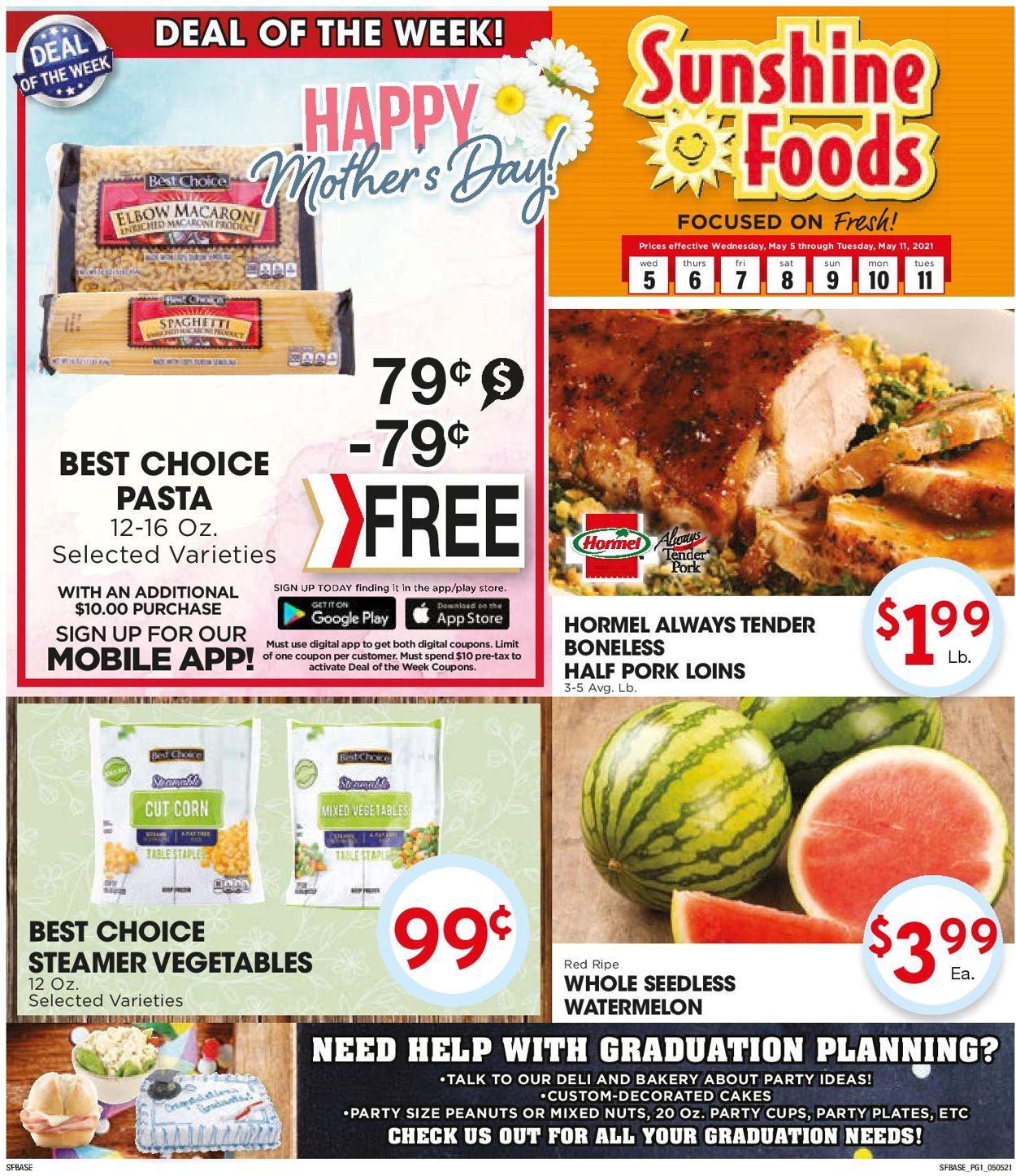 Sunshine Foods Weekly Ad Circular - valid 05/05-05/11/2021
