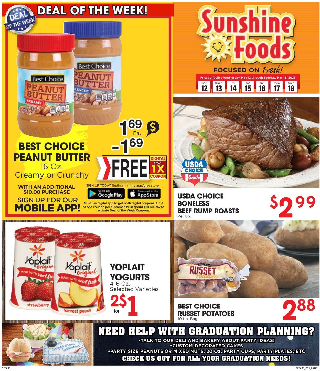 Sunshine Foods Weekly Ad Circular - valid 05/12-05/18/2021