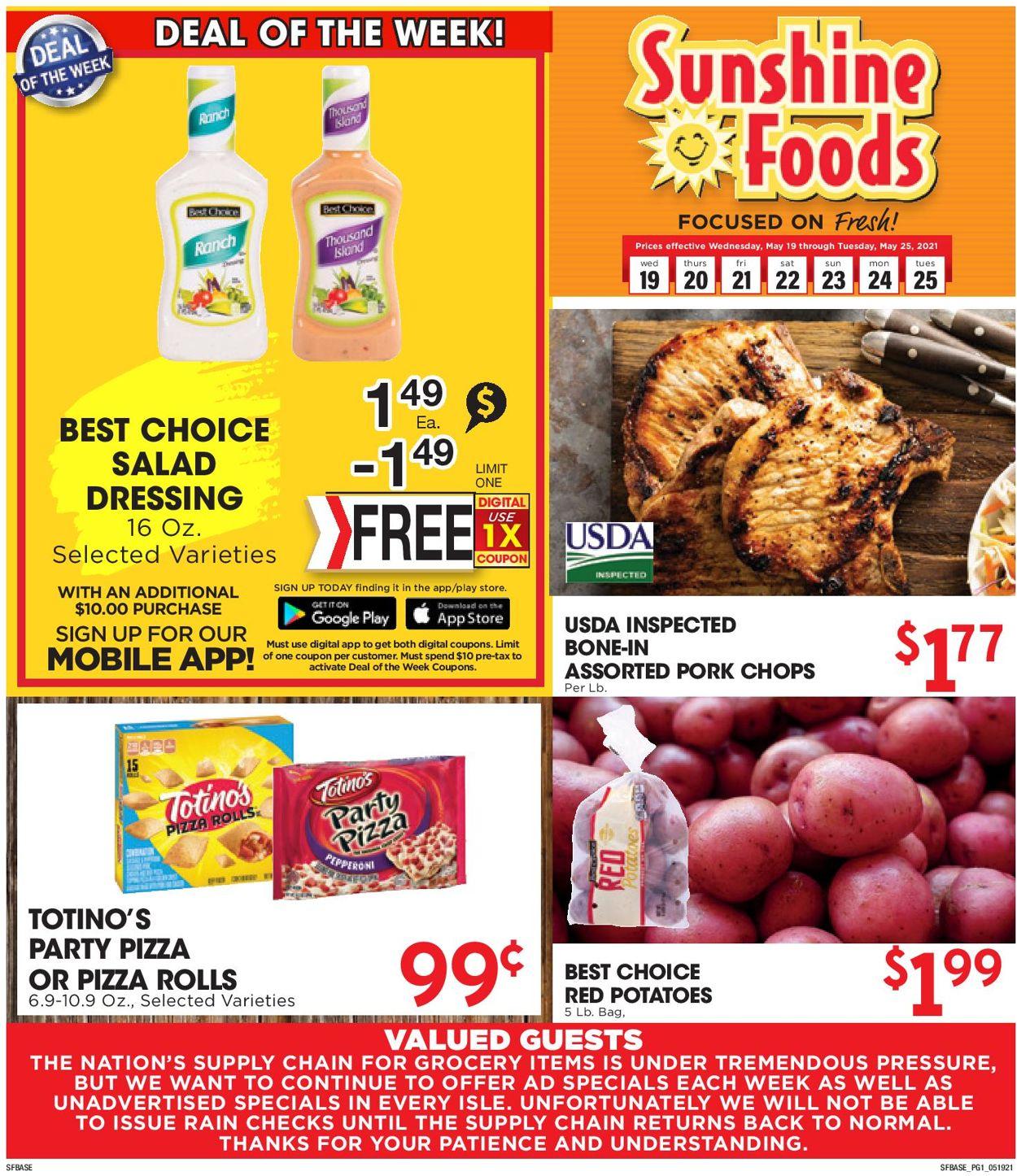 Sunshine Foods Weekly Ad Circular - valid 05/19-05/25/2021