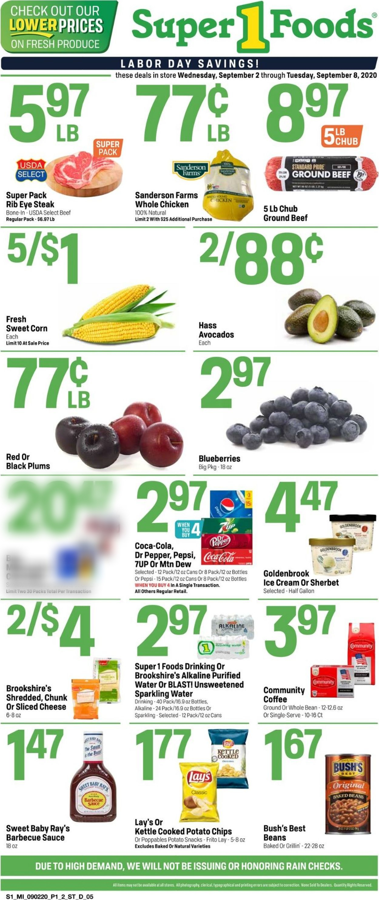 Super 1 Foods Weekly Ad Circular - valid 09/02-09/08/2020