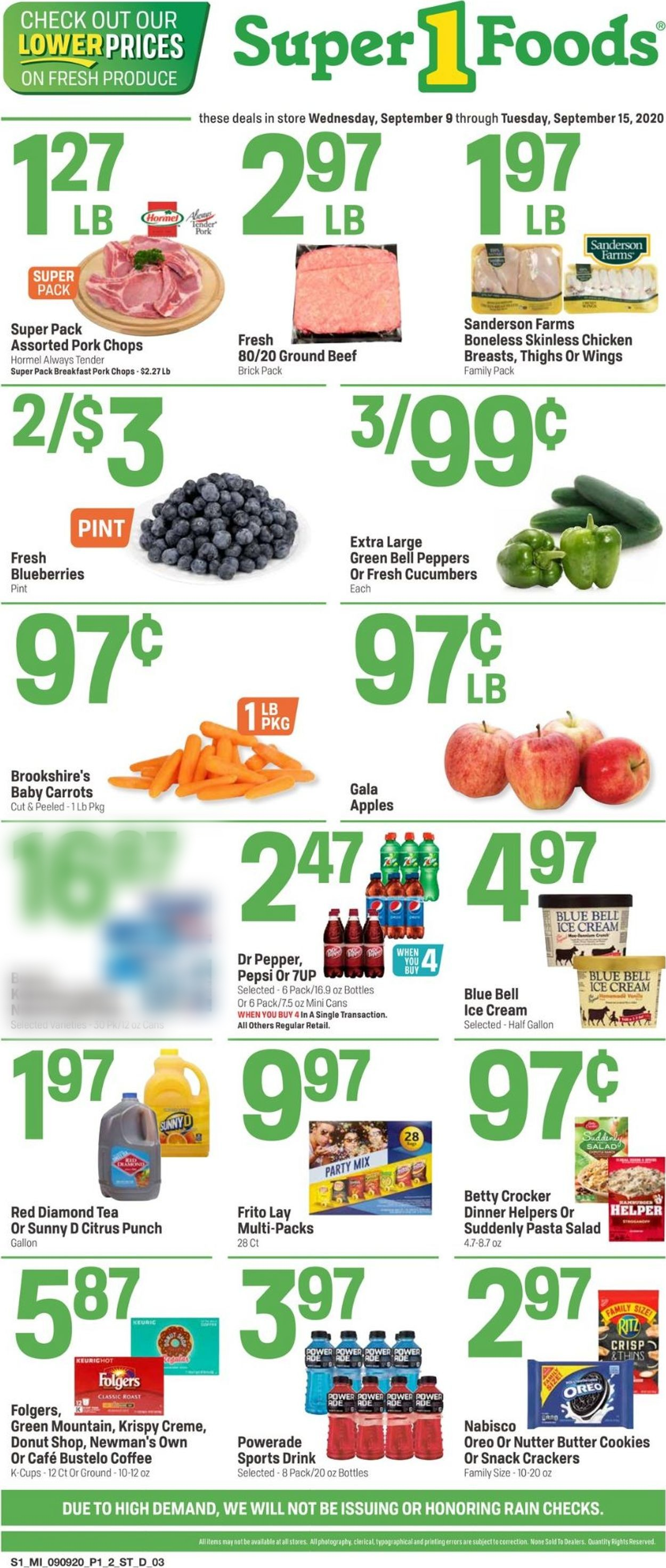 Super 1 Foods Weekly Ad Circular - valid 09/09-09/15/2020
