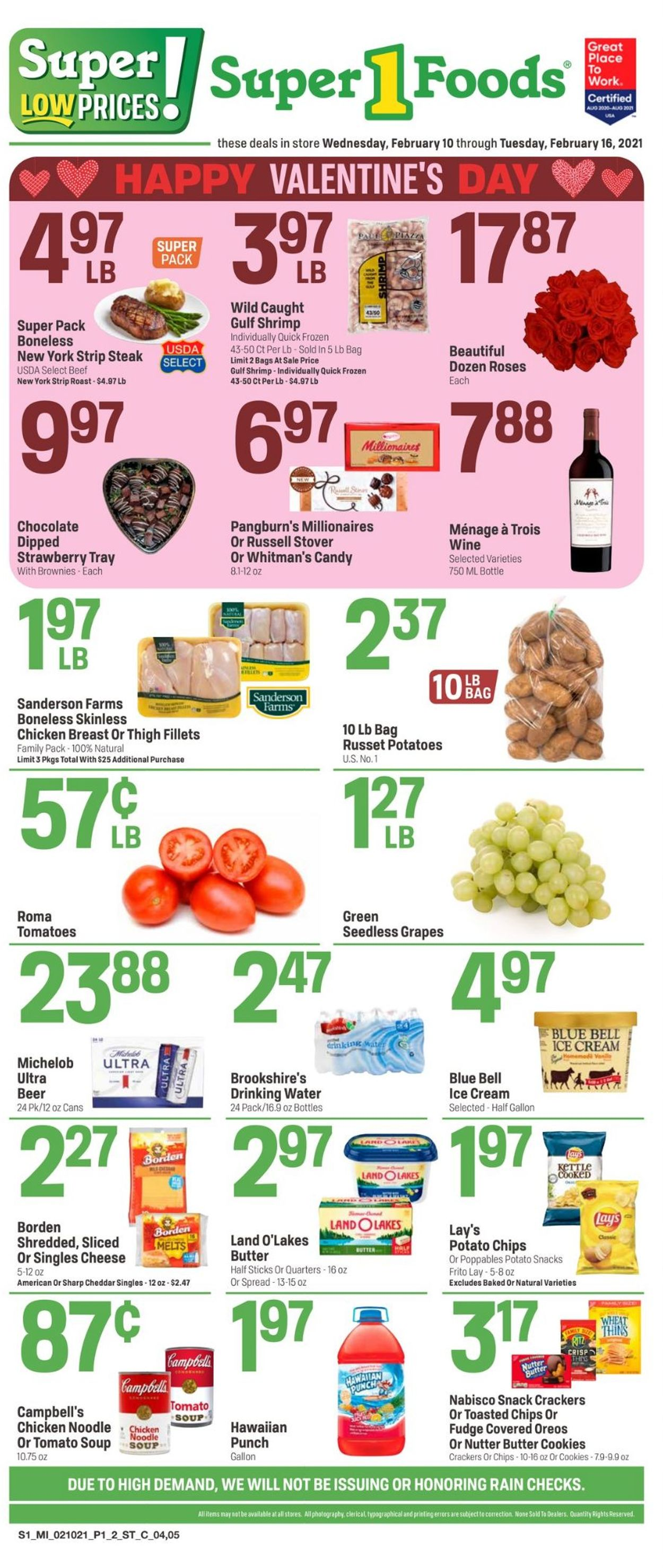 Super 1 Foods Weekly Ad Circular - valid 02/10-02/16/2021