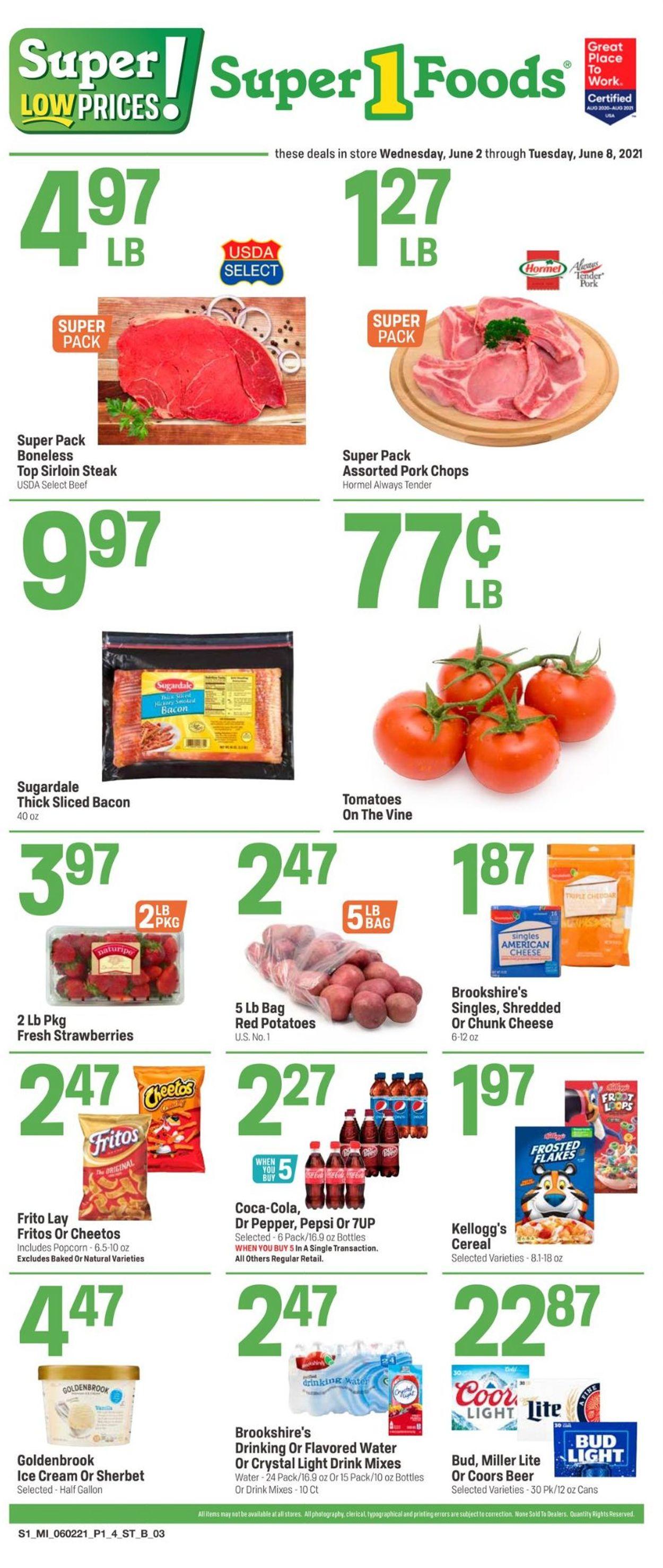 Super 1 Foods Weekly Ad Circular - valid 06/02-06/08/2021