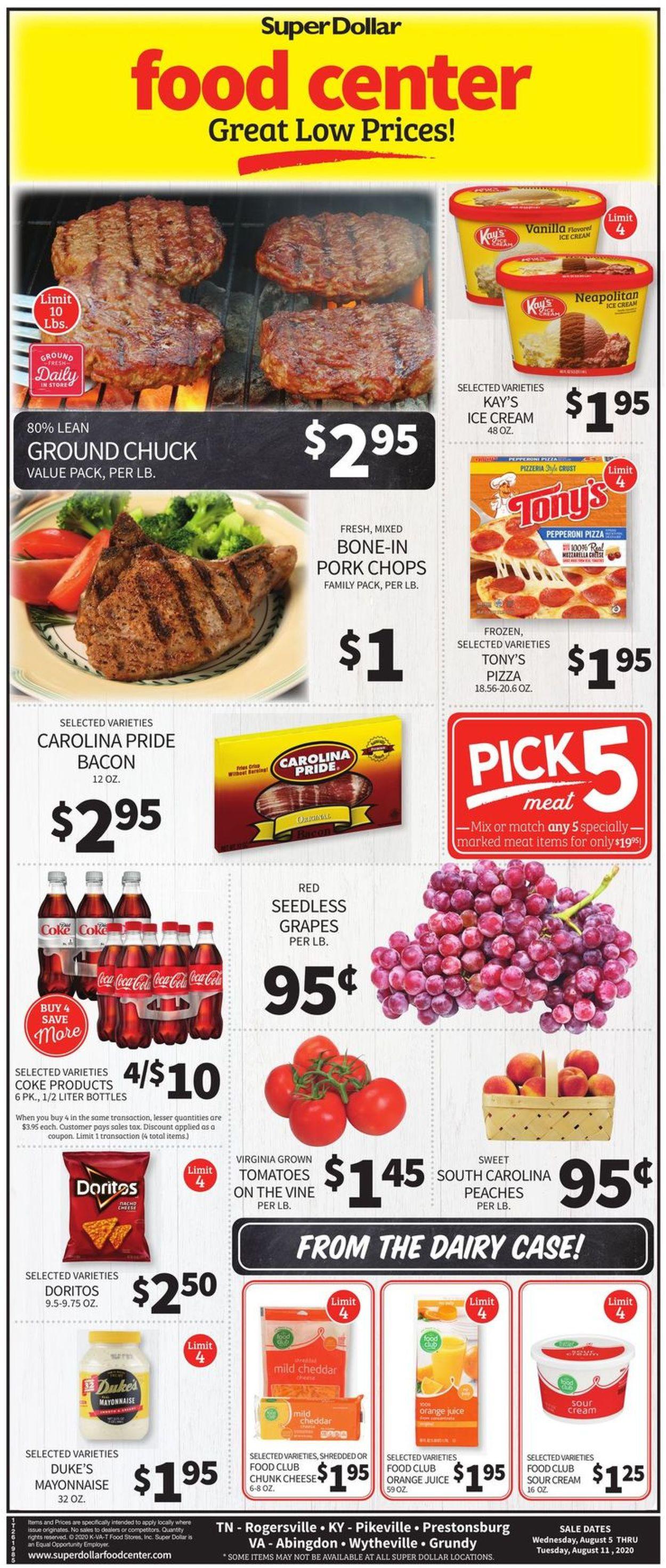Super Dollar Food Center Weekly Ad Circular - valid 08/05-08/11/2020
