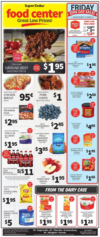 Super Dollar Food Center Weekly Ad Circular - valid 01/06-01/12/2021