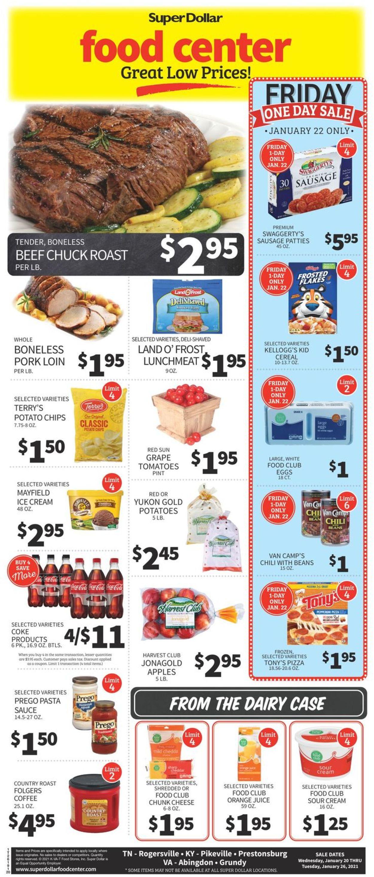 Super Dollar Food Center Weekly Ad Circular - valid 01/20-01/26/2021