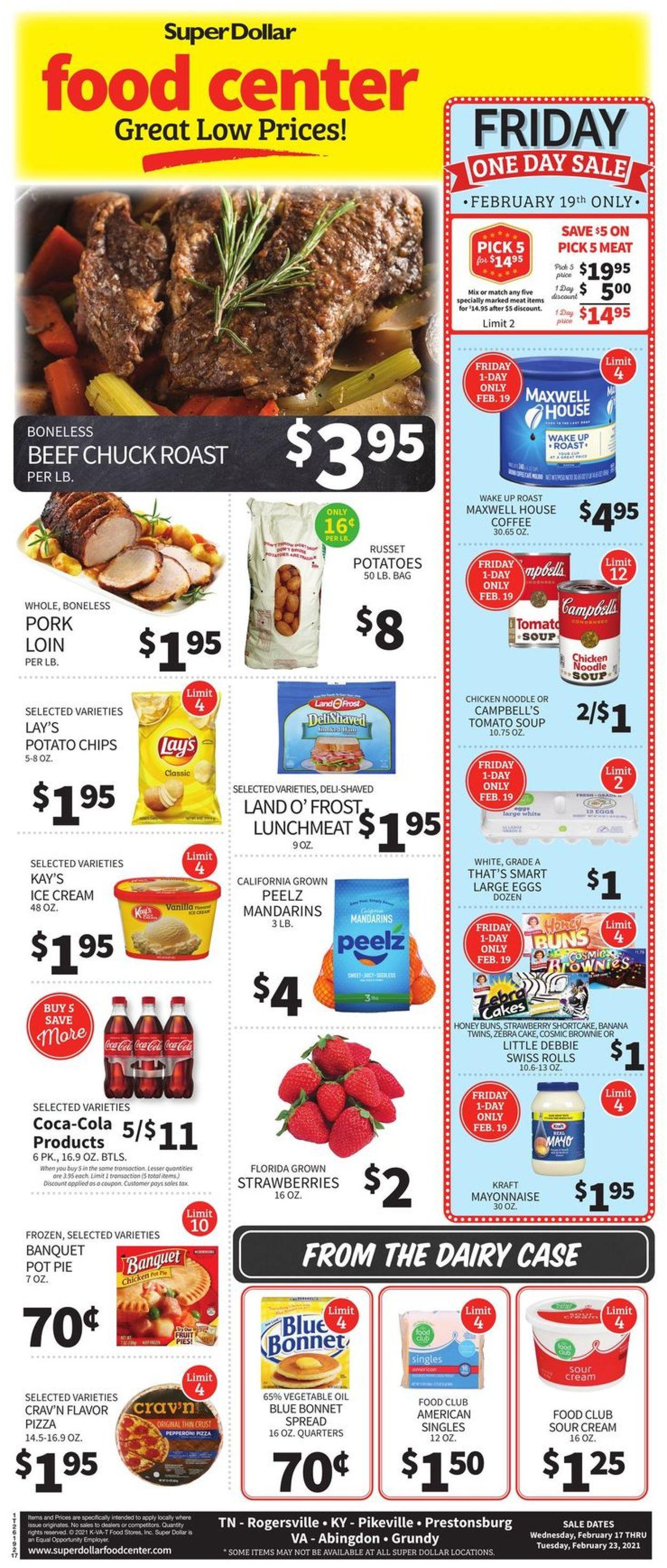 Super Dollar Food Center Weekly Ad Circular - valid 02/17-02/23/2021