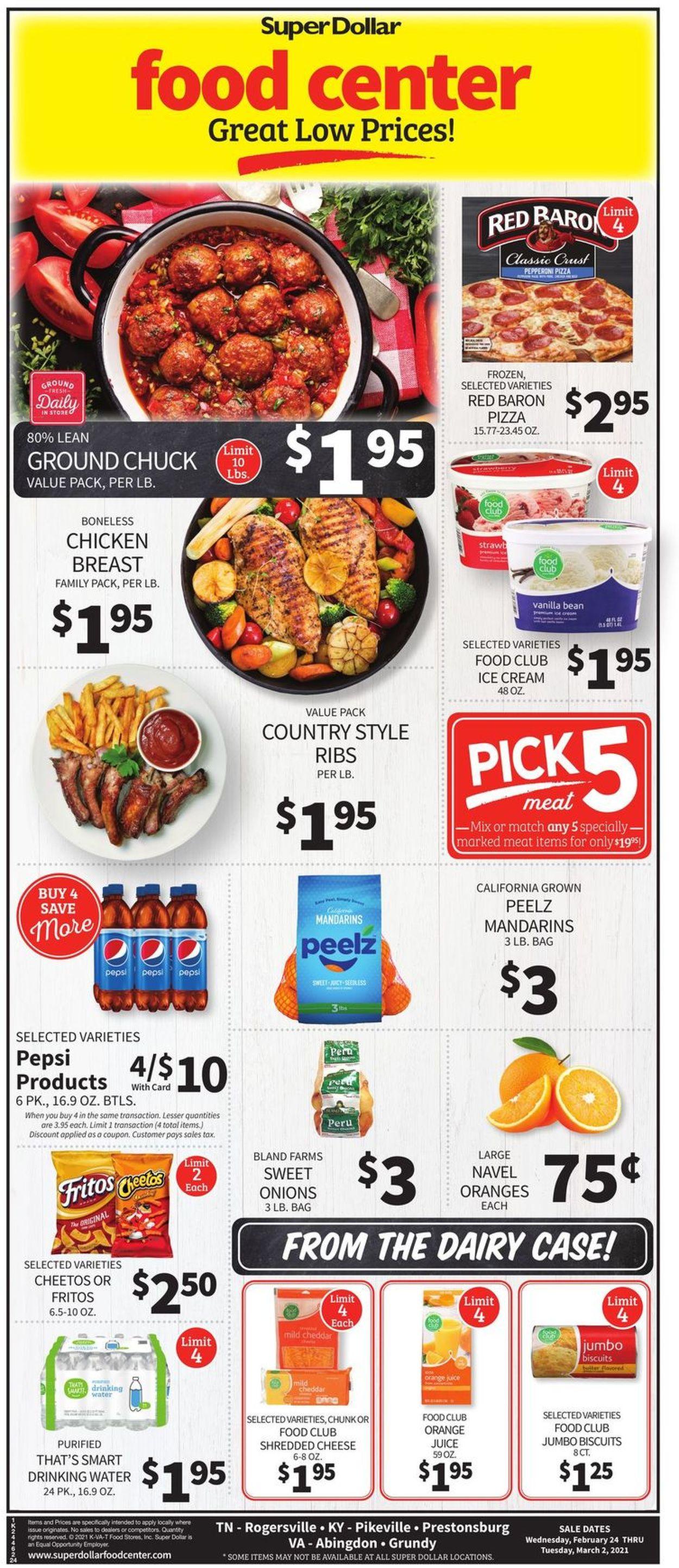 Super Dollar Food Center Weekly Ad Circular - valid 02/24-03/02/2021