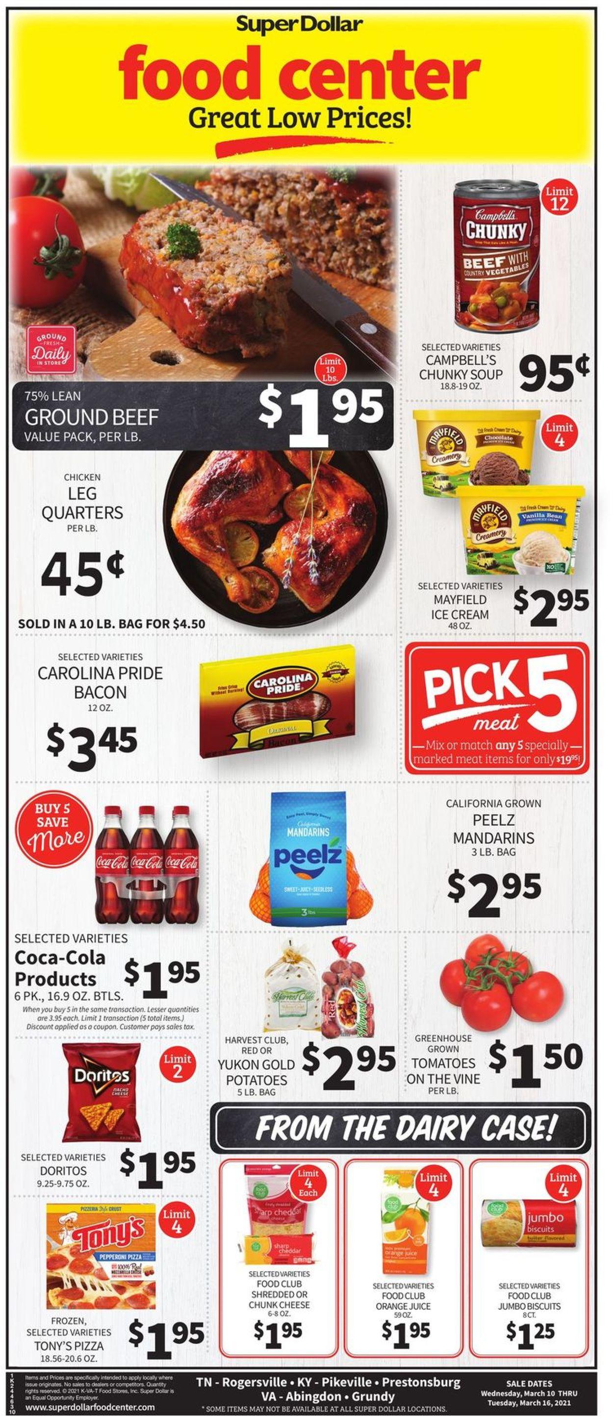 Super Dollar Food Center Weekly Ad Circular - valid 03/10-03/16/2021