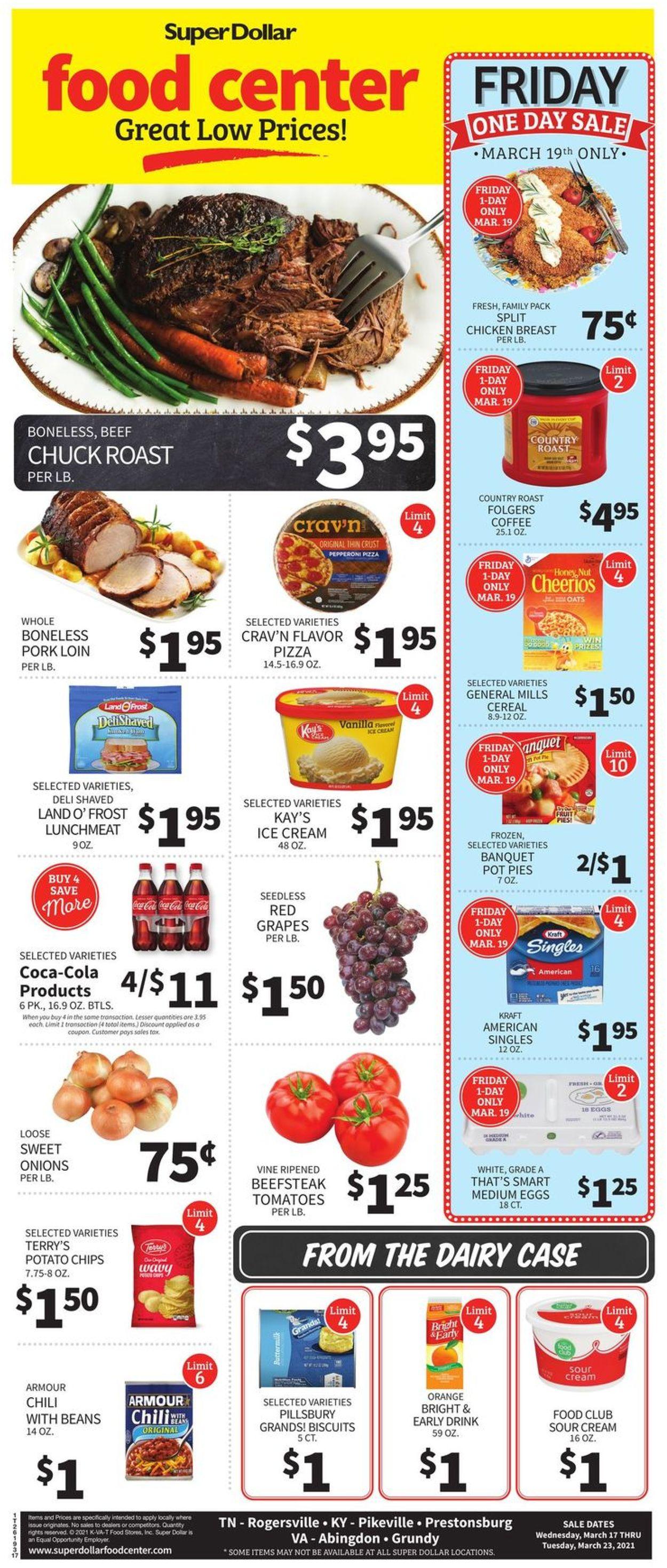 Super Dollar Food Center Weekly Ad Circular - valid 03/17-03/23/2021