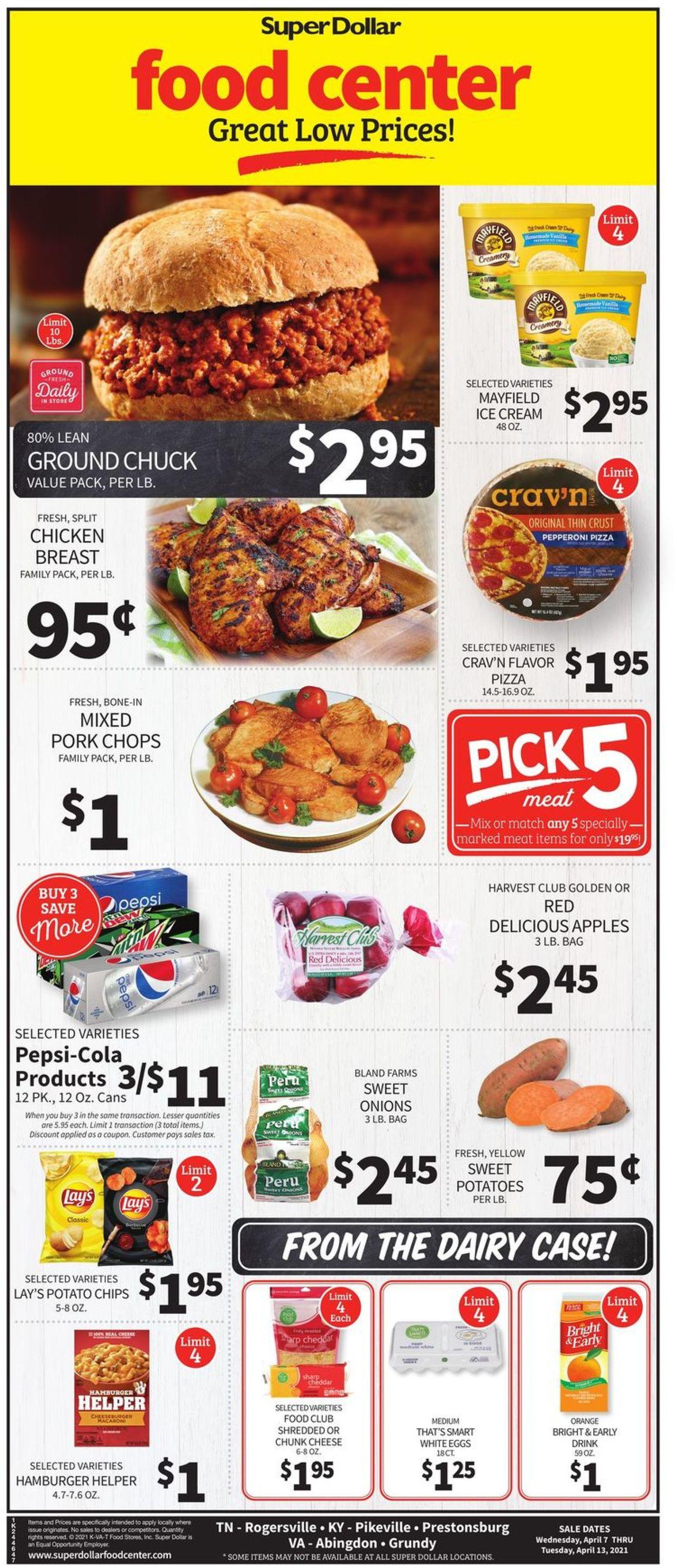 Super Dollar Food Center Weekly Ad Circular - valid 04/07-04/13/2021