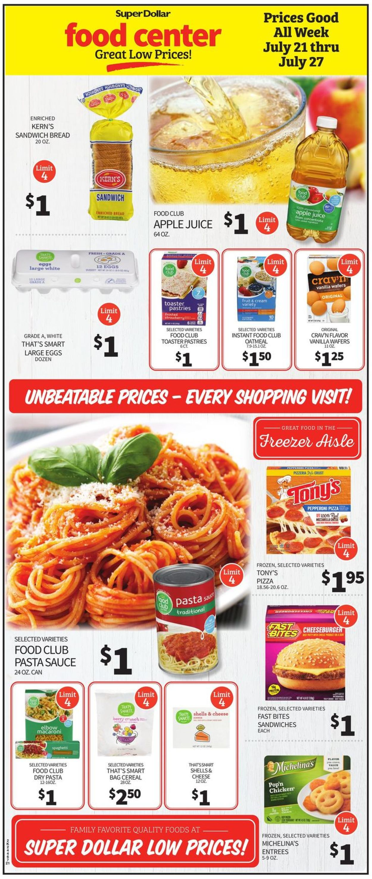 Super Dollar Food Center Weekly Ad Circular - valid 07/21-07/27/2021 (Page 2)