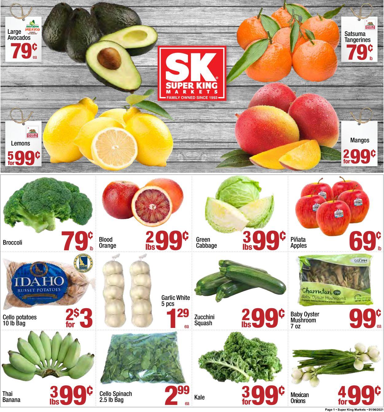 Super King Market Weekly Ad Circular - valid 01/06-01/12/2021