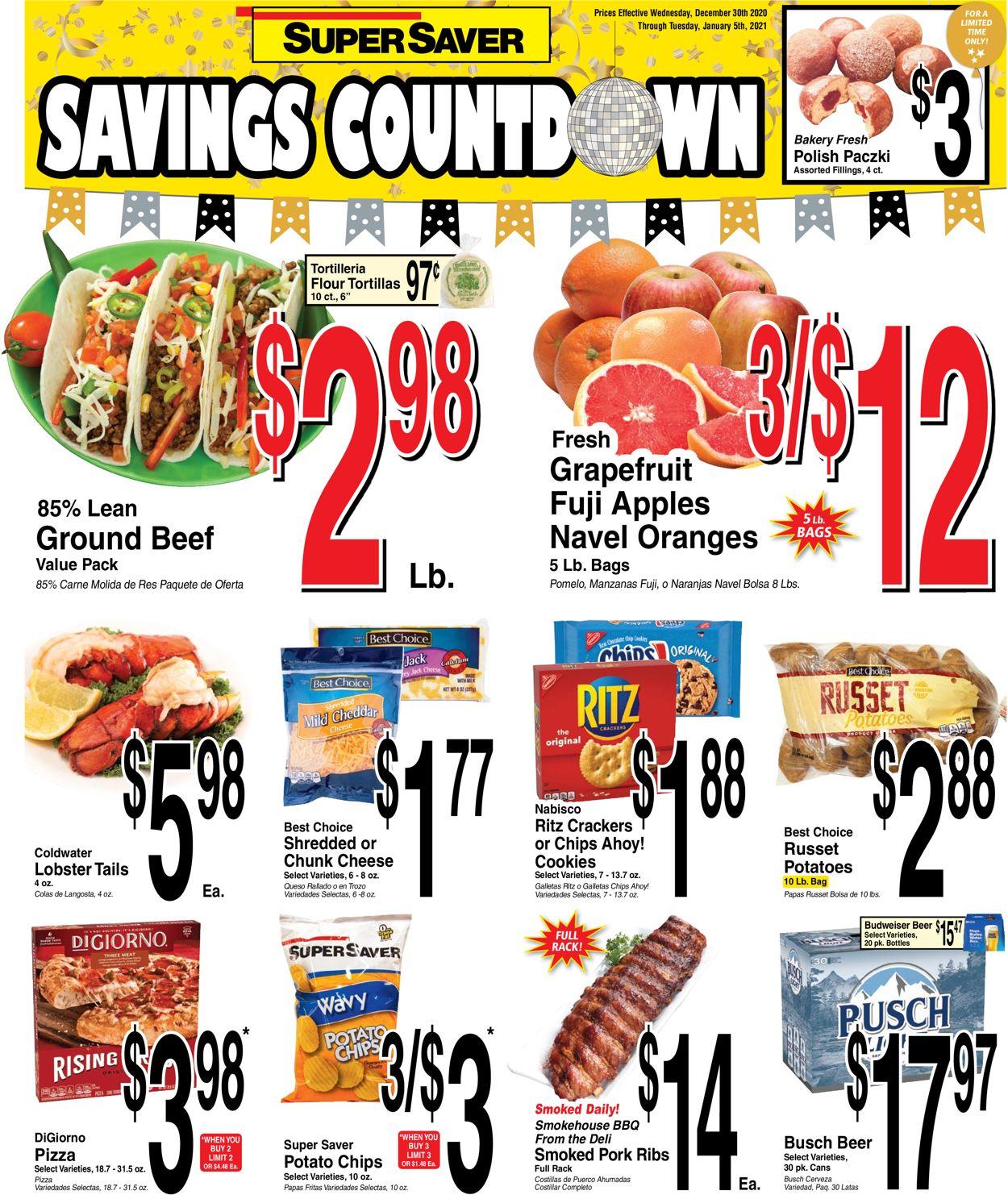 Super Saver Weekly Ad Circular - valid 12/30-01/05/2021