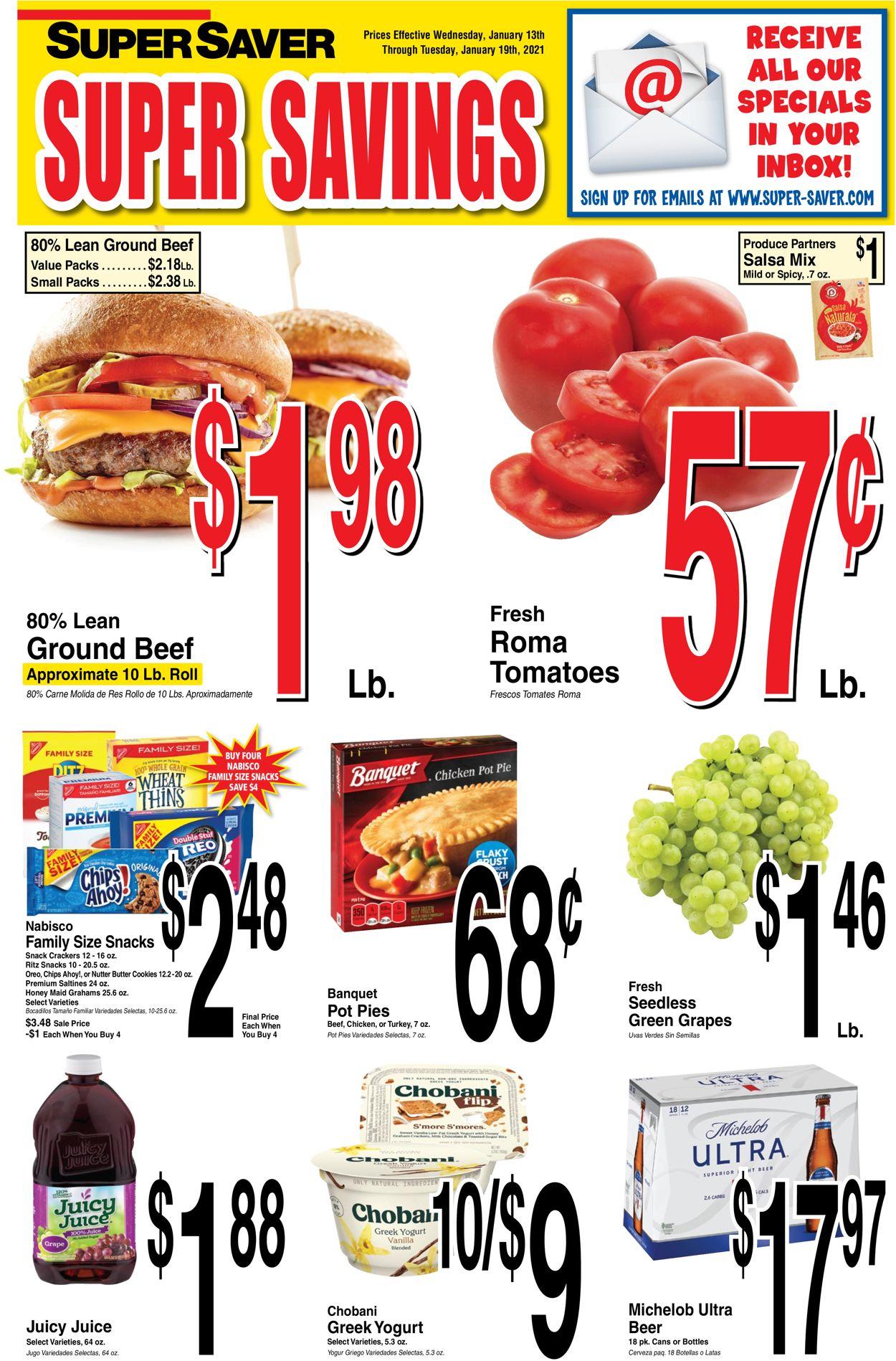Super Saver Weekly Ad Circular - valid 01/13-01/19/2021