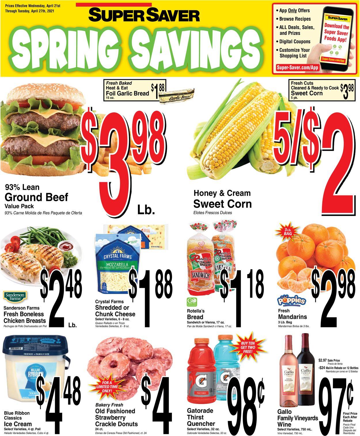 Super Saver Weekly Ad Circular - valid 04/21-04/27/2021