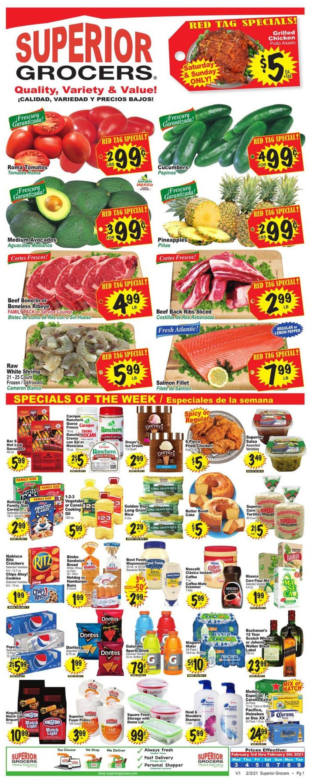 Superior Grocers Weekly Ad Circular - valid 02/03-02/09/2021