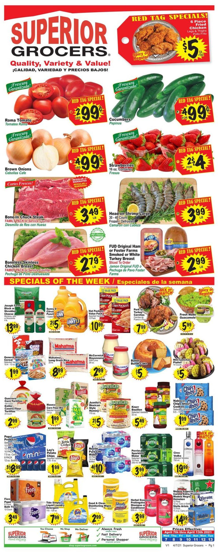 Superior Grocers Weekly Ad Circular - valid 04/07-04/13/2021