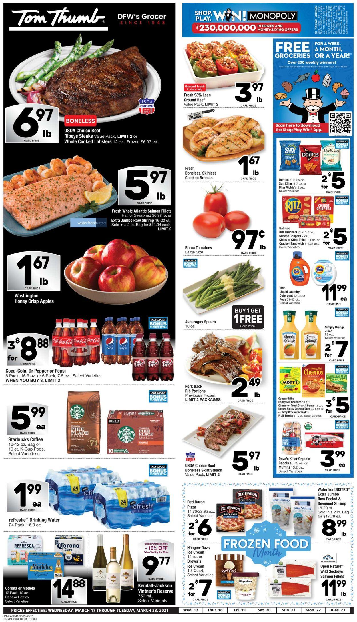 Tom Thumb Weekly Ad Circular - valid 03/17-03/23/2021