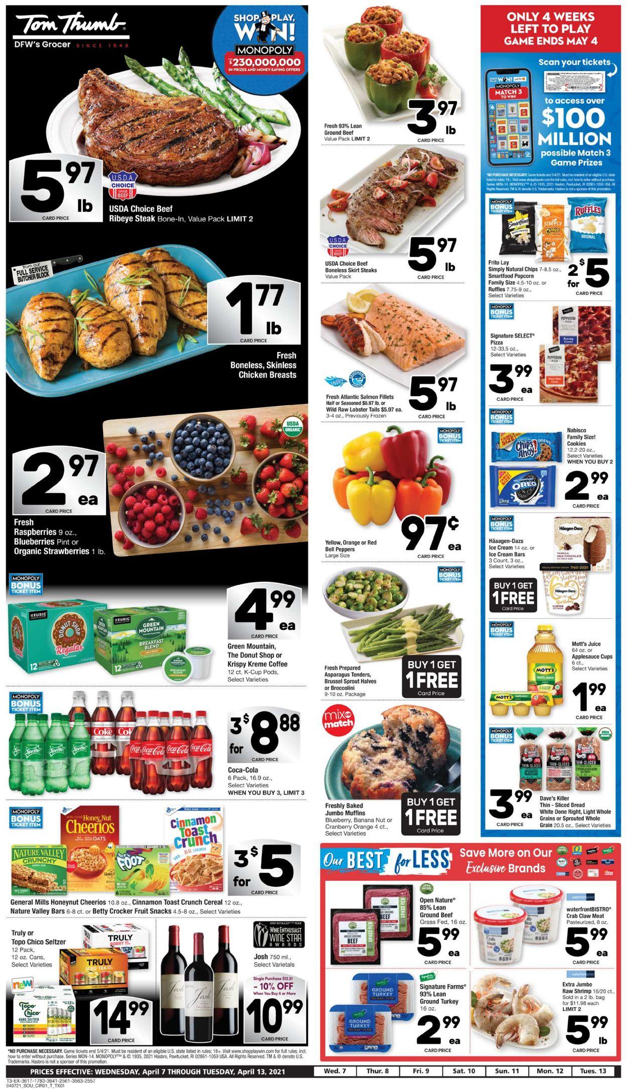Tom Thumb Weekly Ad Circular - valid 04/07-04/13/2021