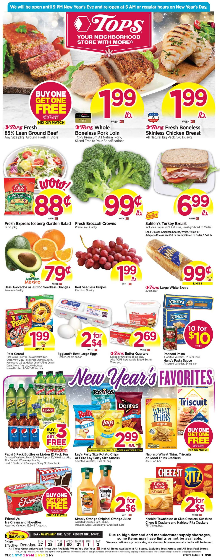 Tops Friendly Markets Weekly Ad Circular - valid 12/27-01/02/2021