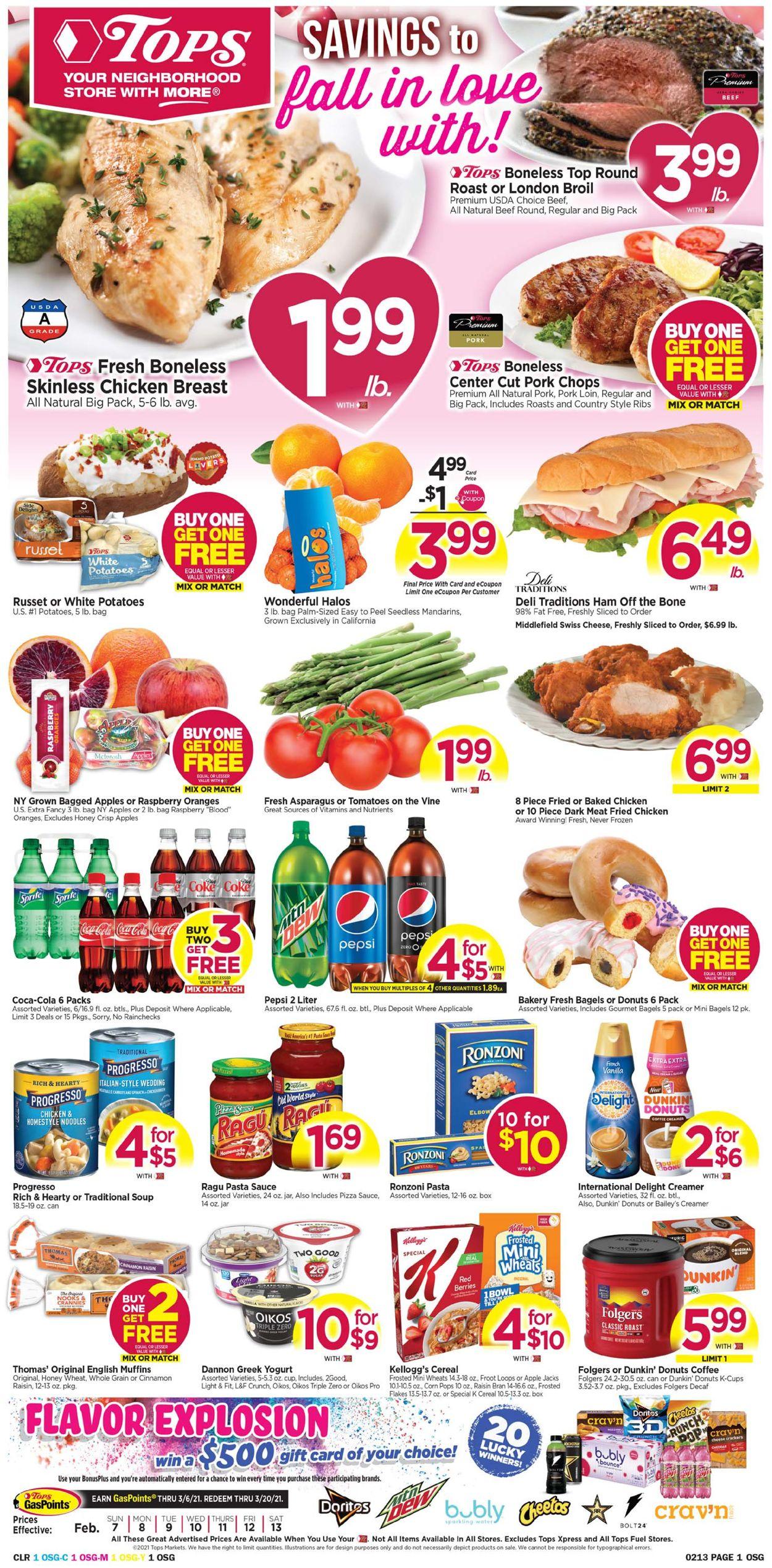 Tops Friendly Markets Weekly Ad Circular - valid 02/07-02/13/2021