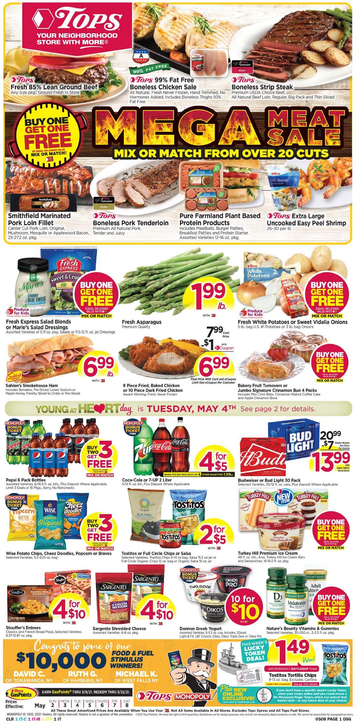 Tops Friendly Markets Weekly Ad Circular - valid 05/02-05/08/2021