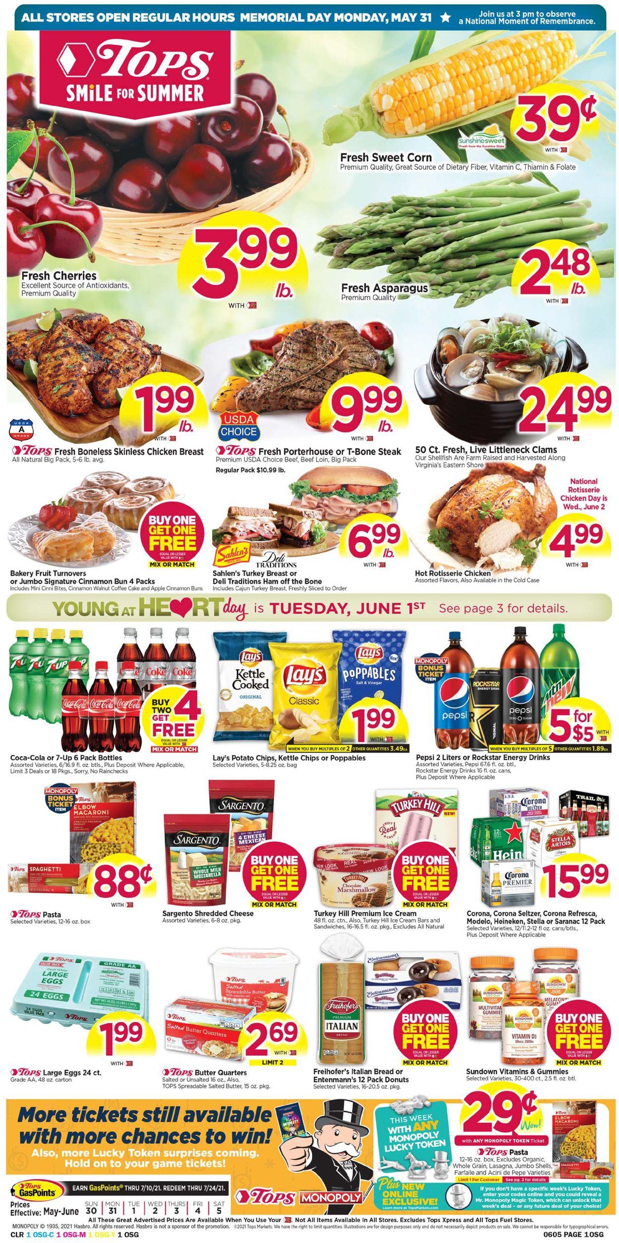 Tops Friendly Markets Weekly Ad Circular - valid 05/30-06/05/2021