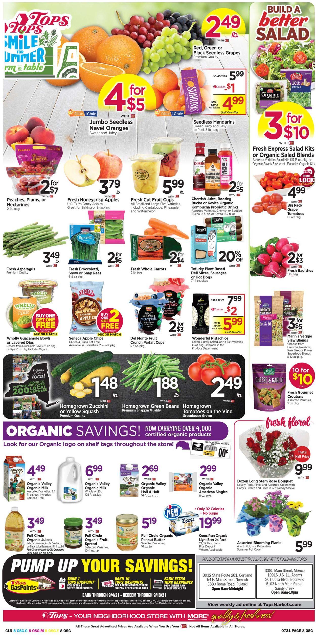 Tops Friendly Markets Weekly Ad Circular - valid 07/25-07/31/2021 (Page 8)