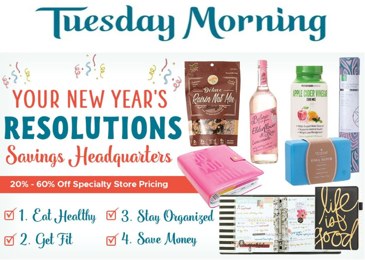 Tuesday Morning Weekly Ad Circular - valid 01/01-01/07/2021
