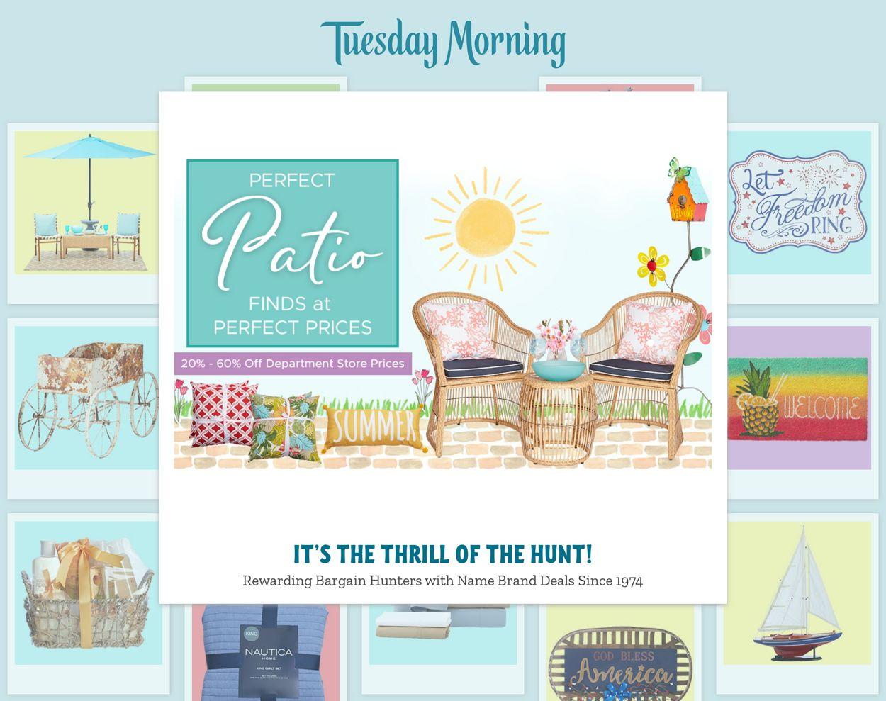 Tuesday Morning Weekly Ad Circular - valid 06/03-06/09/2021