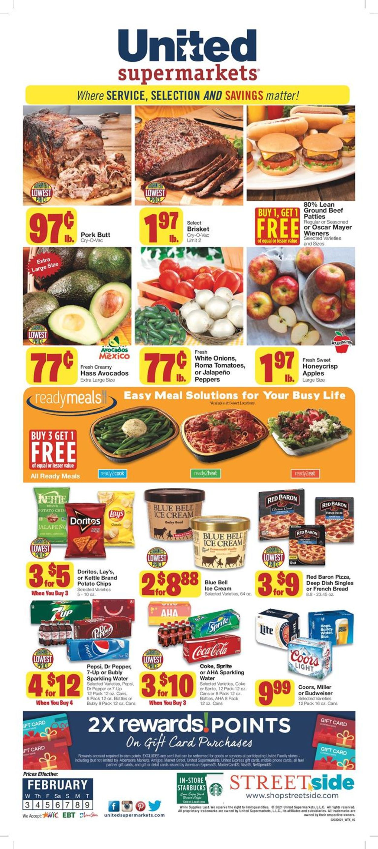 United Supermarkets Weekly Ad Circular - valid 02/03-02/09/2021