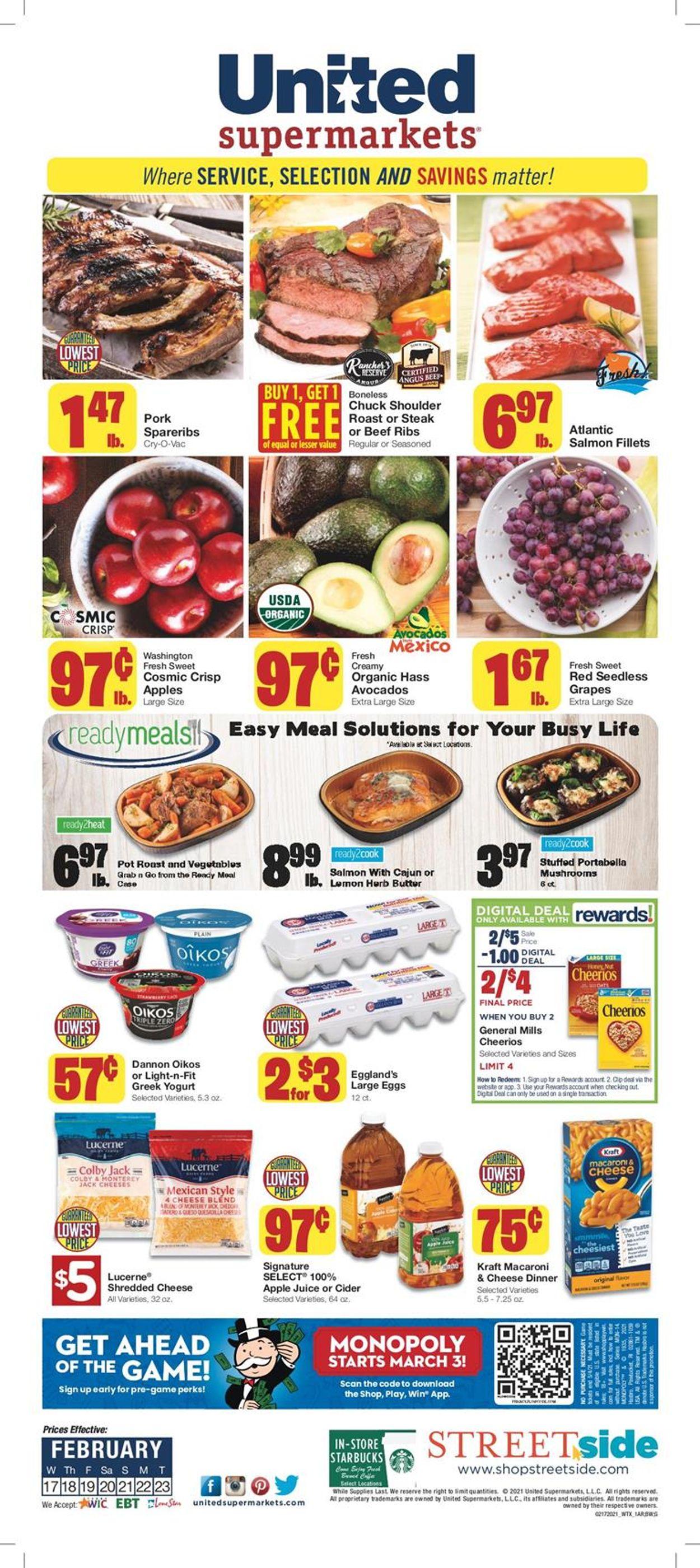 United Supermarkets Weekly Ad Circular - valid 02/17-02/23/2021