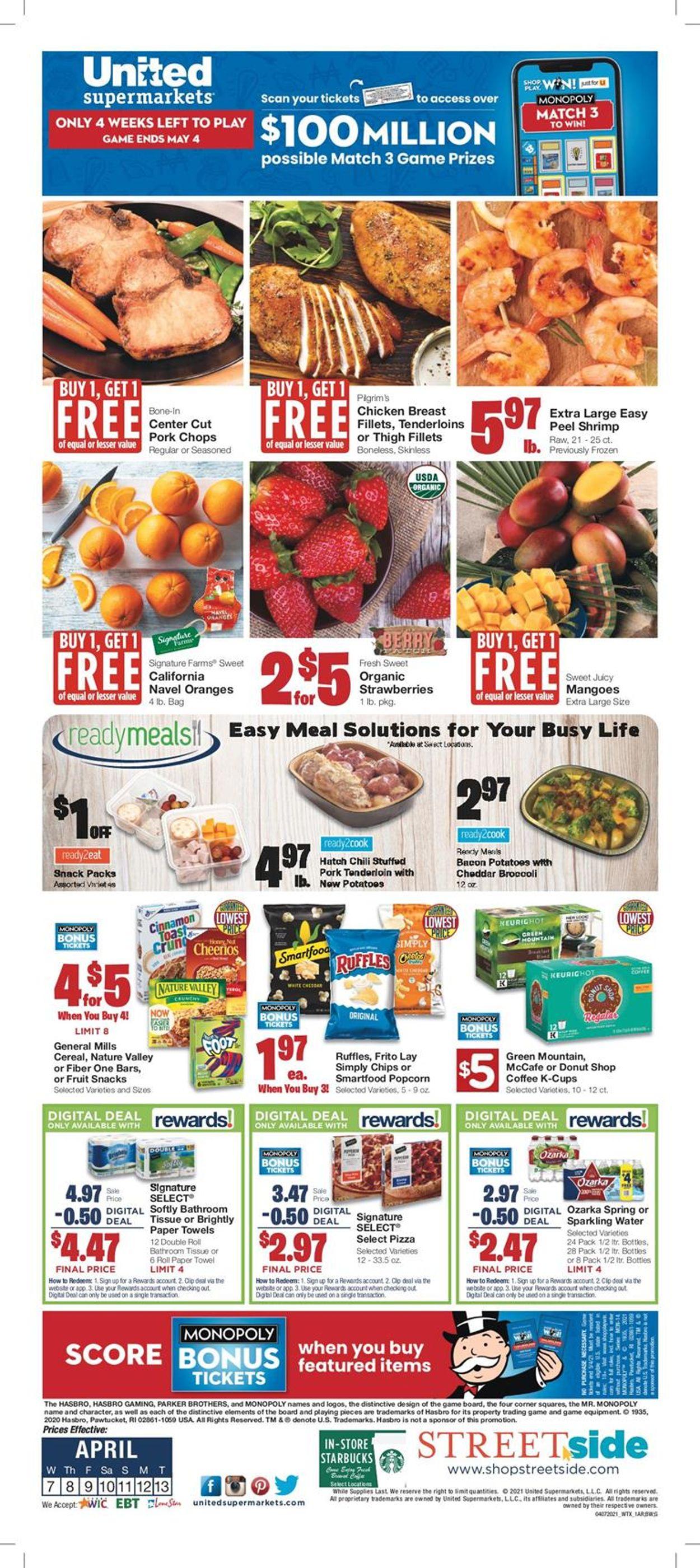 United Supermarkets Weekly Ad Circular - valid 04/07-04/13/2021