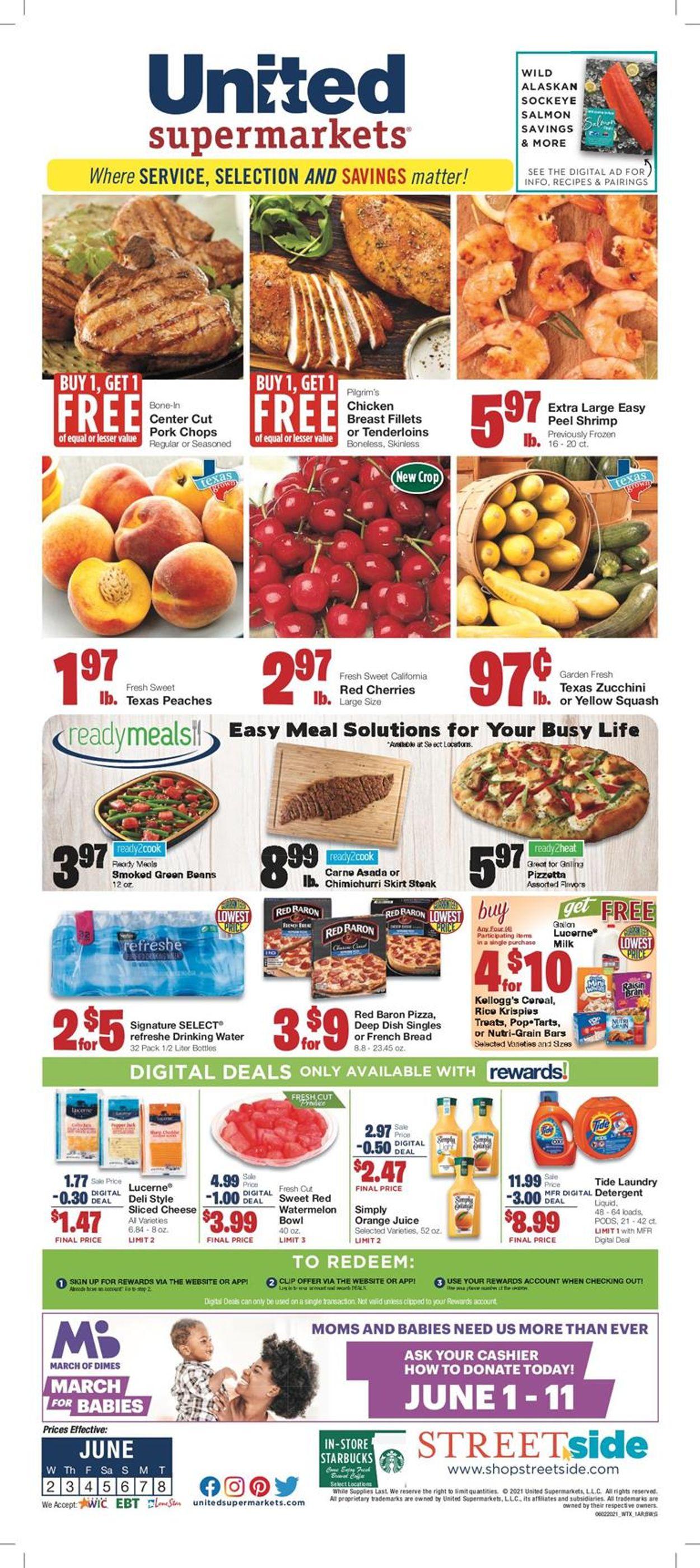 United Supermarkets Weekly Ad Circular - valid 06/02-06/08/2021