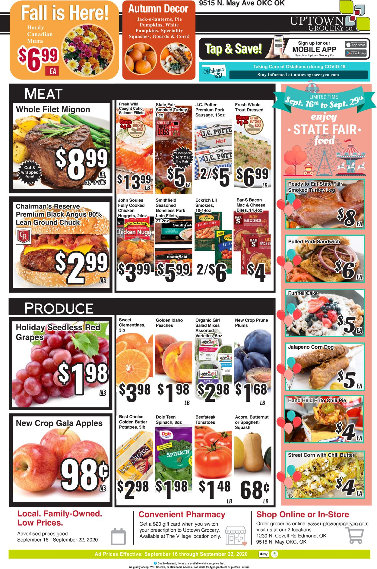 Uptown Grocery Co. Weekly Ad Circular - valid 09/16-09/22/2020