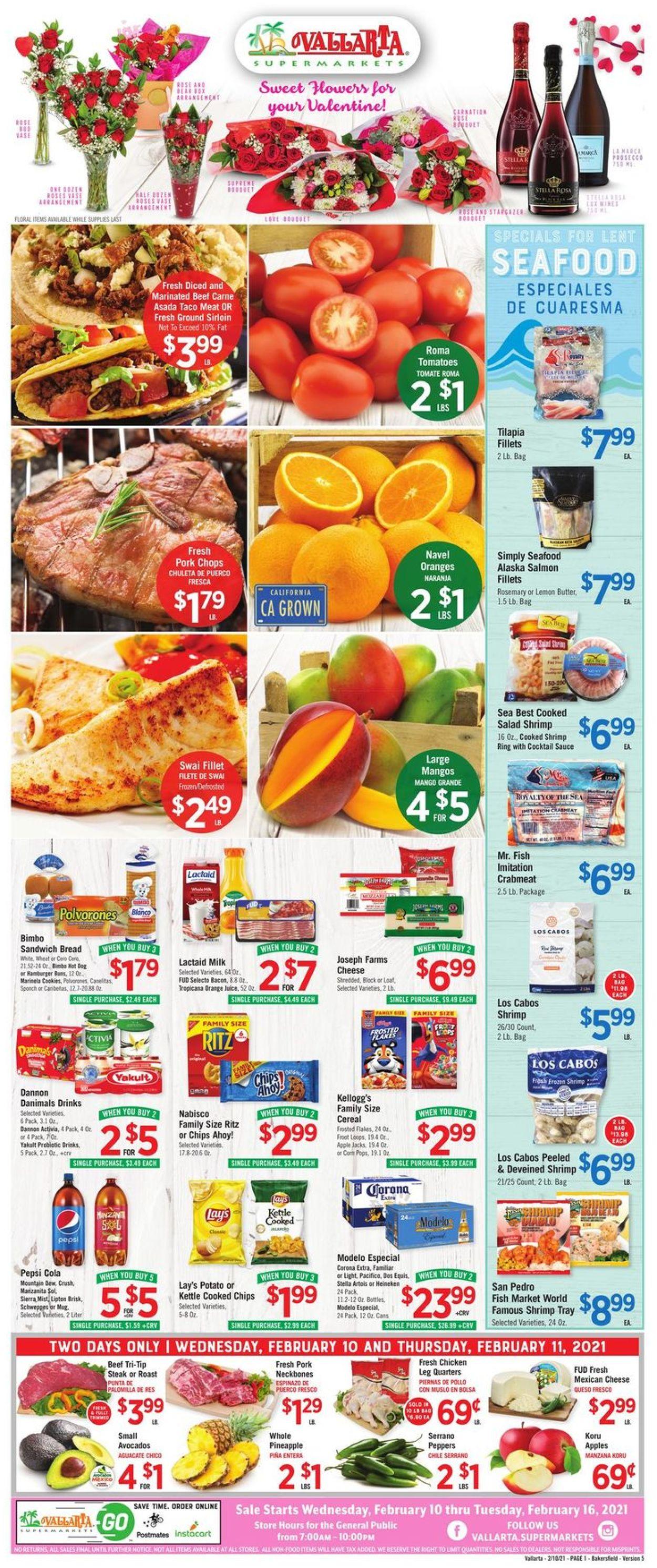 Vallarta Weekly Ad Circular - valid 02/10-02/16/2021