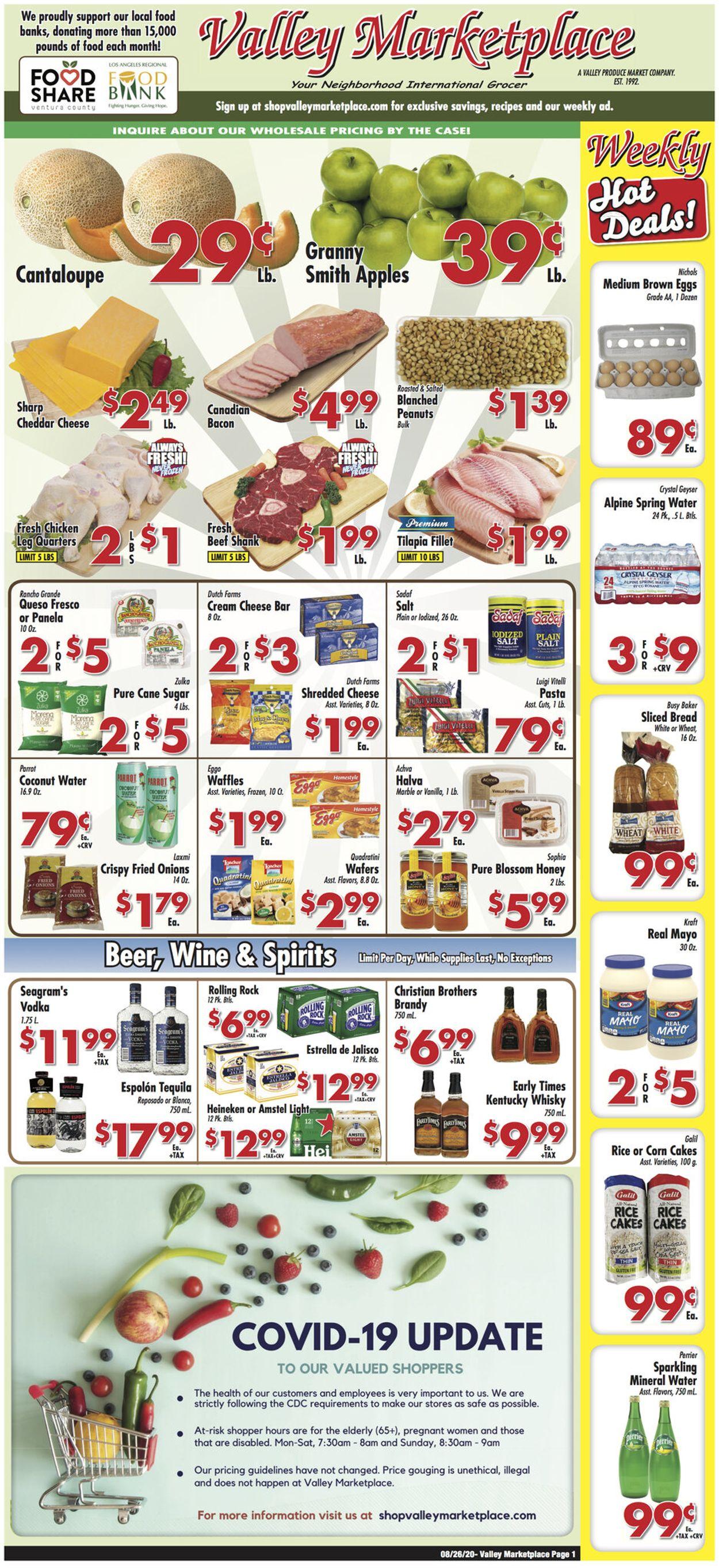 Valley Marketplace Weekly Ad Circular - valid 08/25-09/01/2020