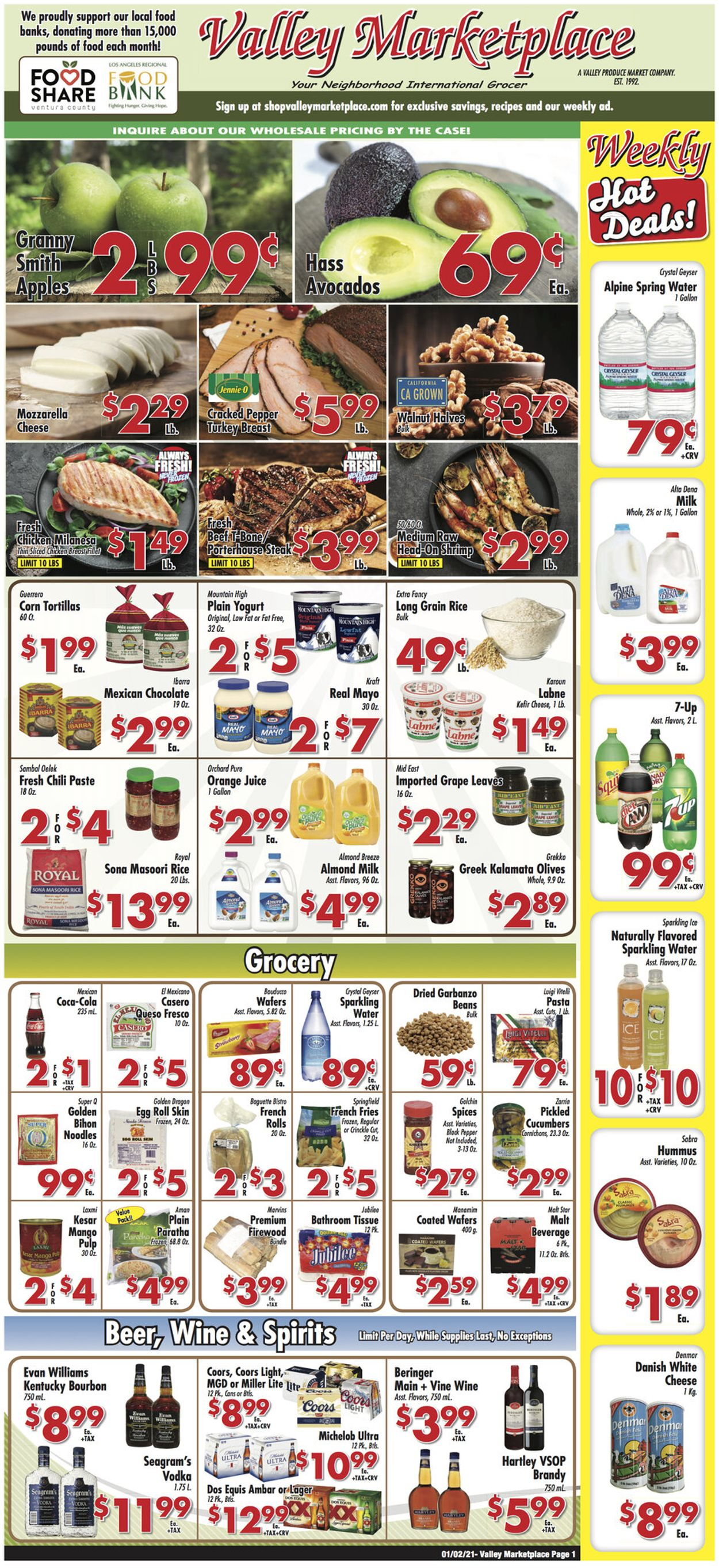 Valley Marketplace Weekly Ad Circular - valid 01/02-01/12/2021
