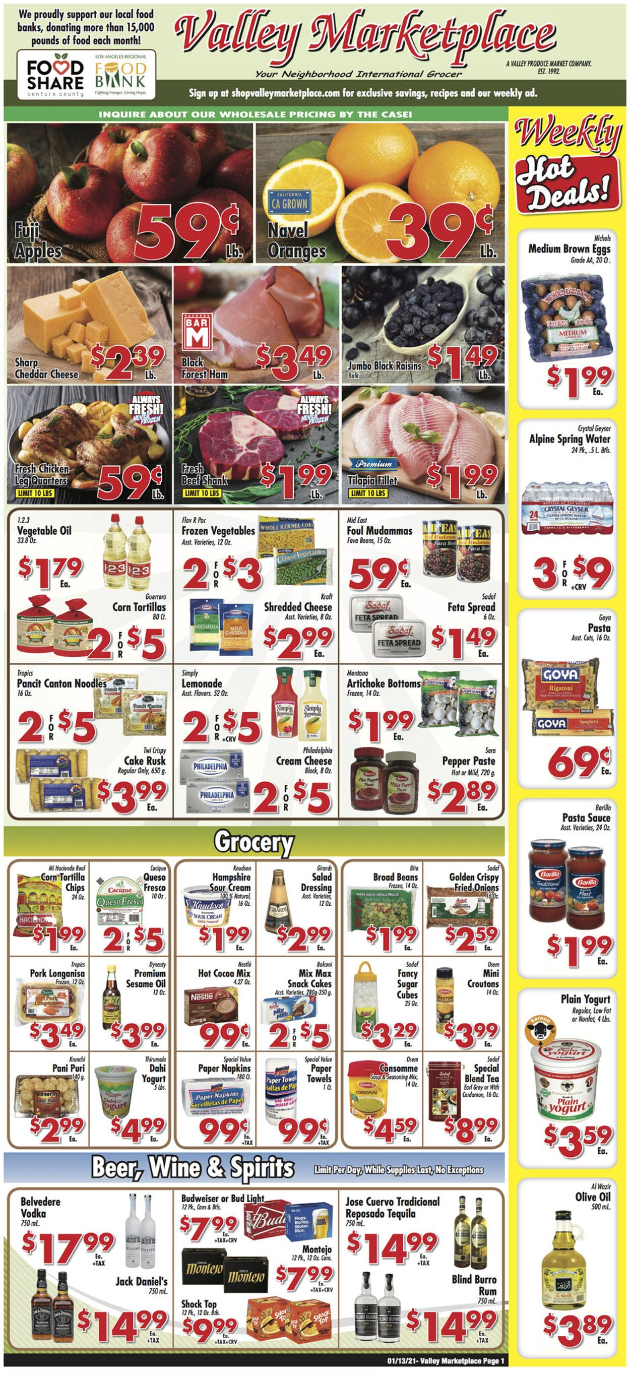 Valley Marketplace Weekly Ad Circular - valid 01/13-01/19/2021